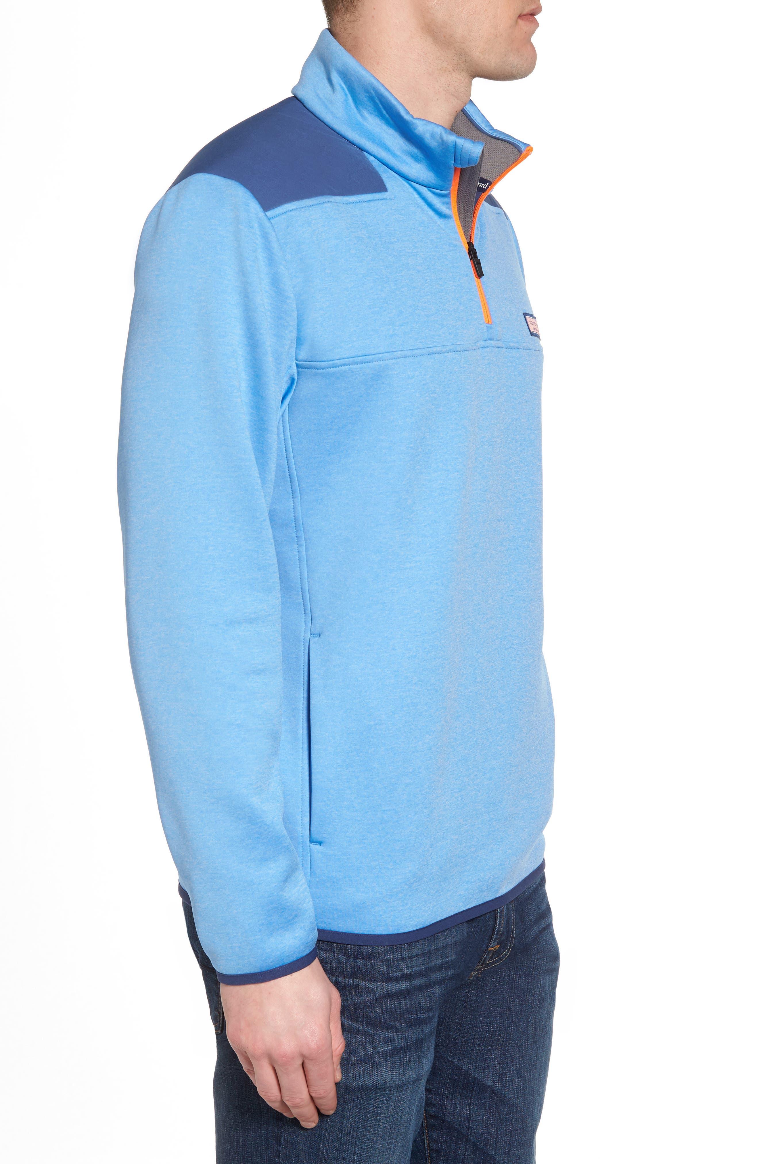 Shep Performance Fleece Quarter Zip Pullover,                             Alternate thumbnail 3, color,                             Ocean Breeze