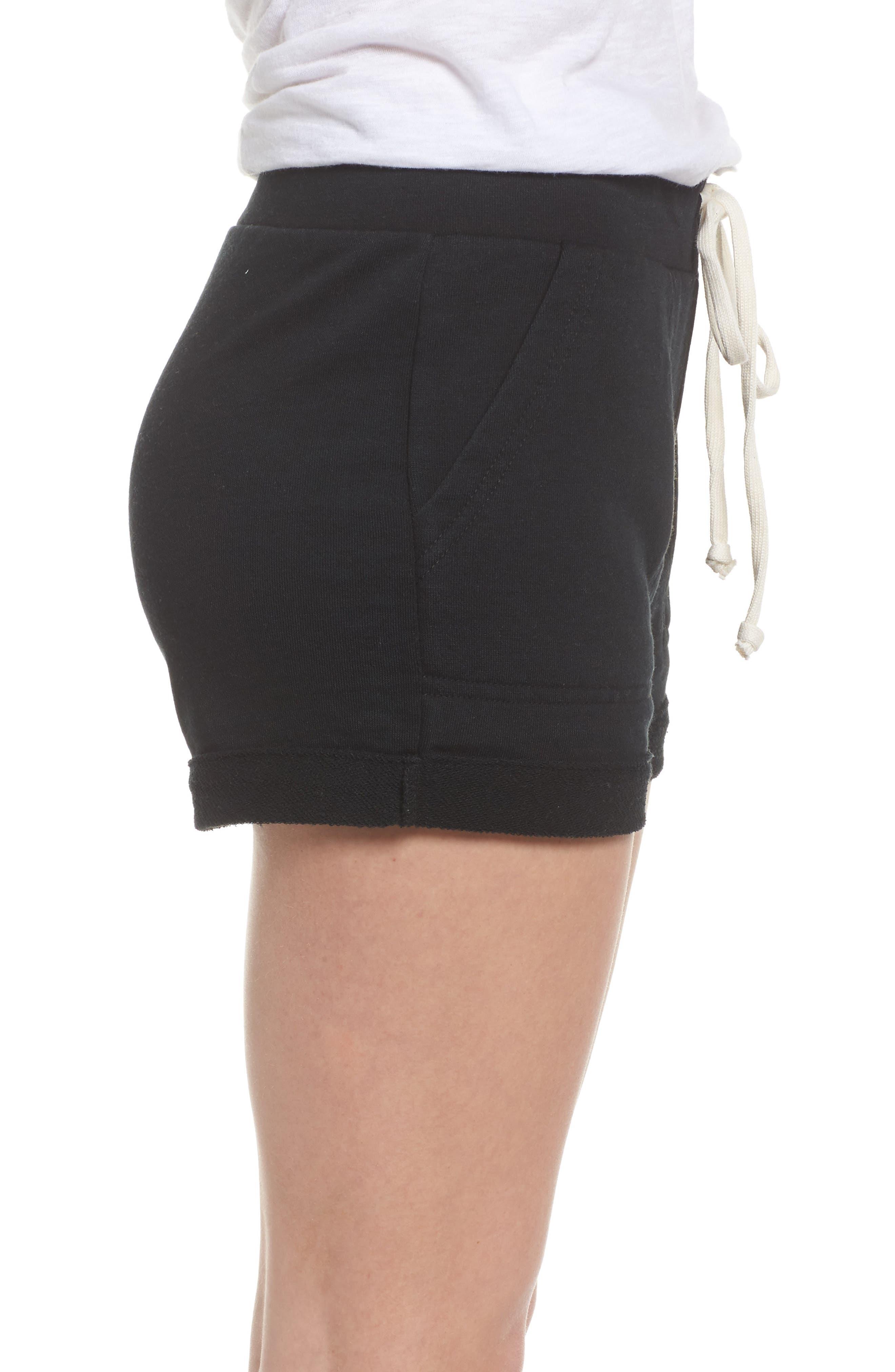 Lounge Shorts,                             Alternate thumbnail 3, color,                             True Black