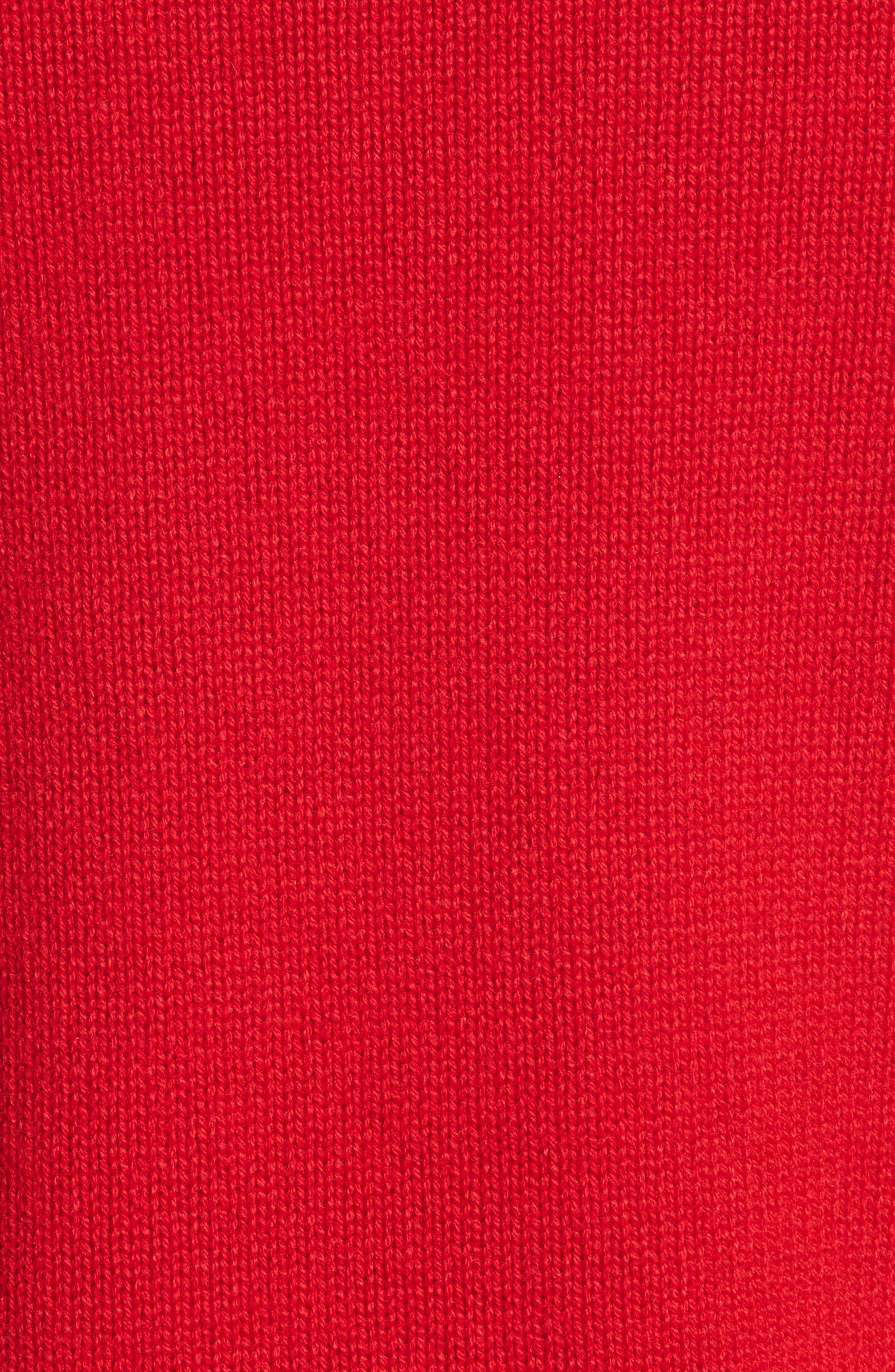 Rockstud Cashmere Sweater,                             Alternate thumbnail 5, color,                             Red