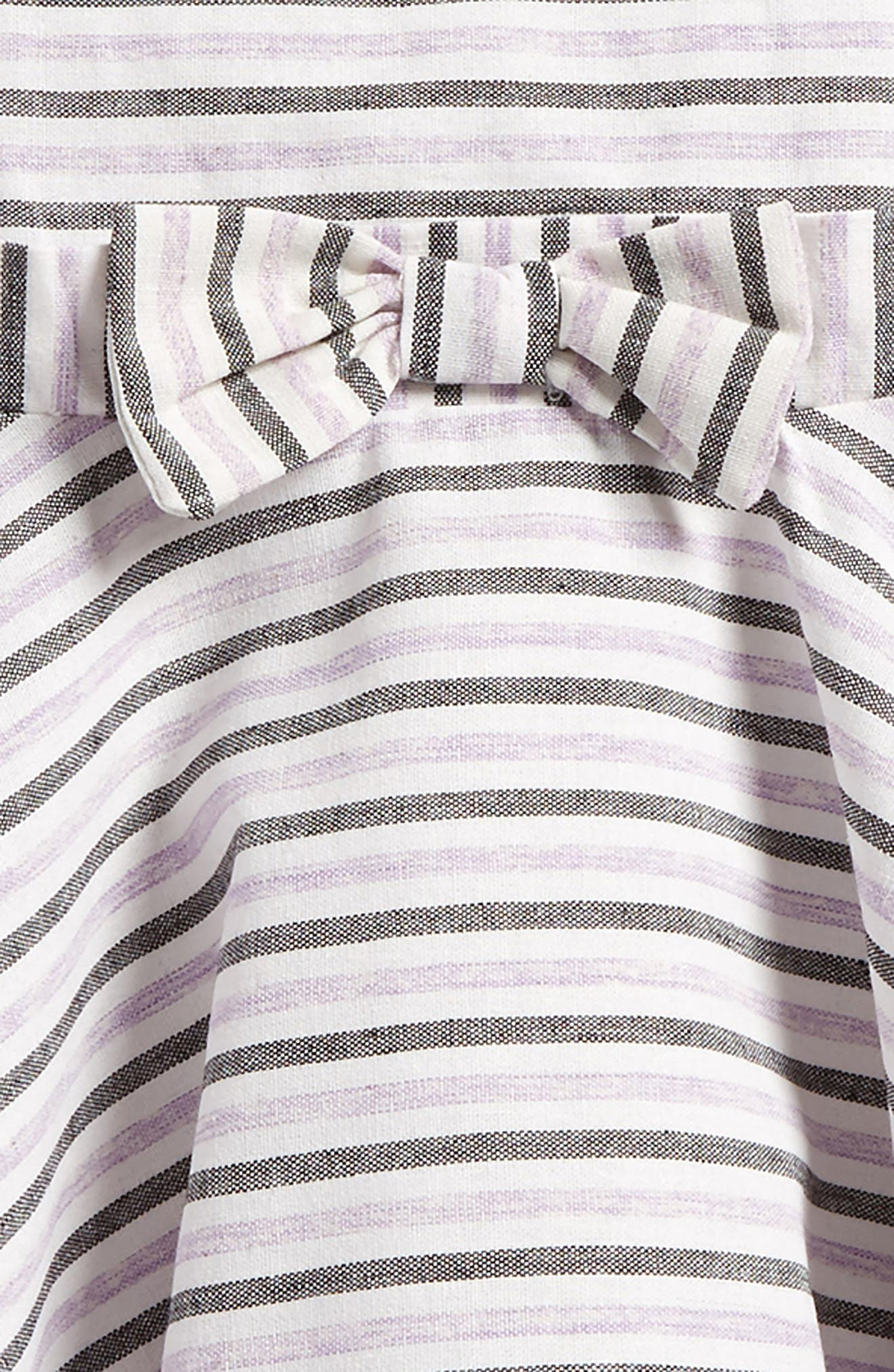 Stripe Cotton Dress,                             Alternate thumbnail 3, color,                             Lilac