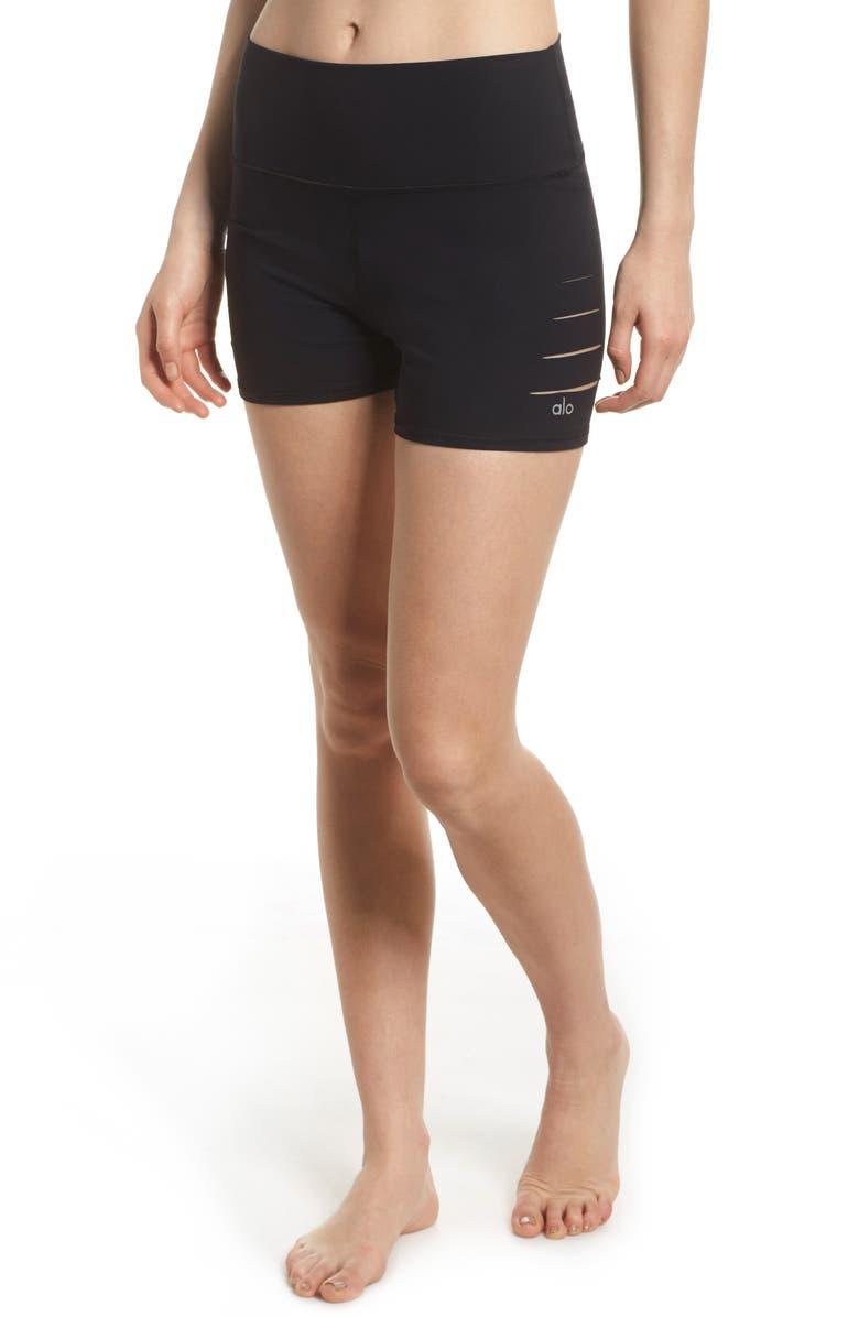 Ripped High Waist Shorts