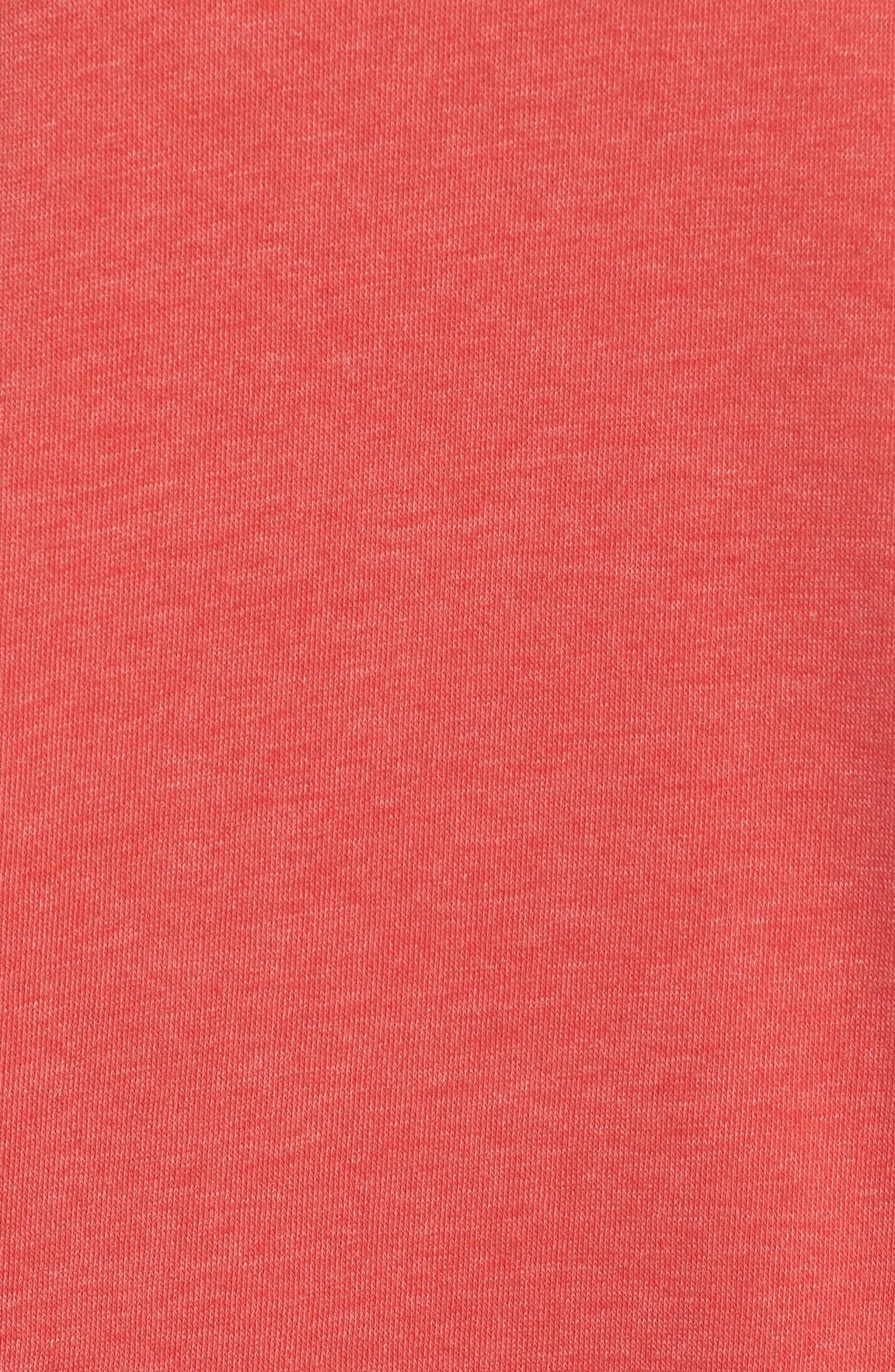 Lounge Sweatshirt Dress,                             Alternate thumbnail 5, color,                             Love Red/ White