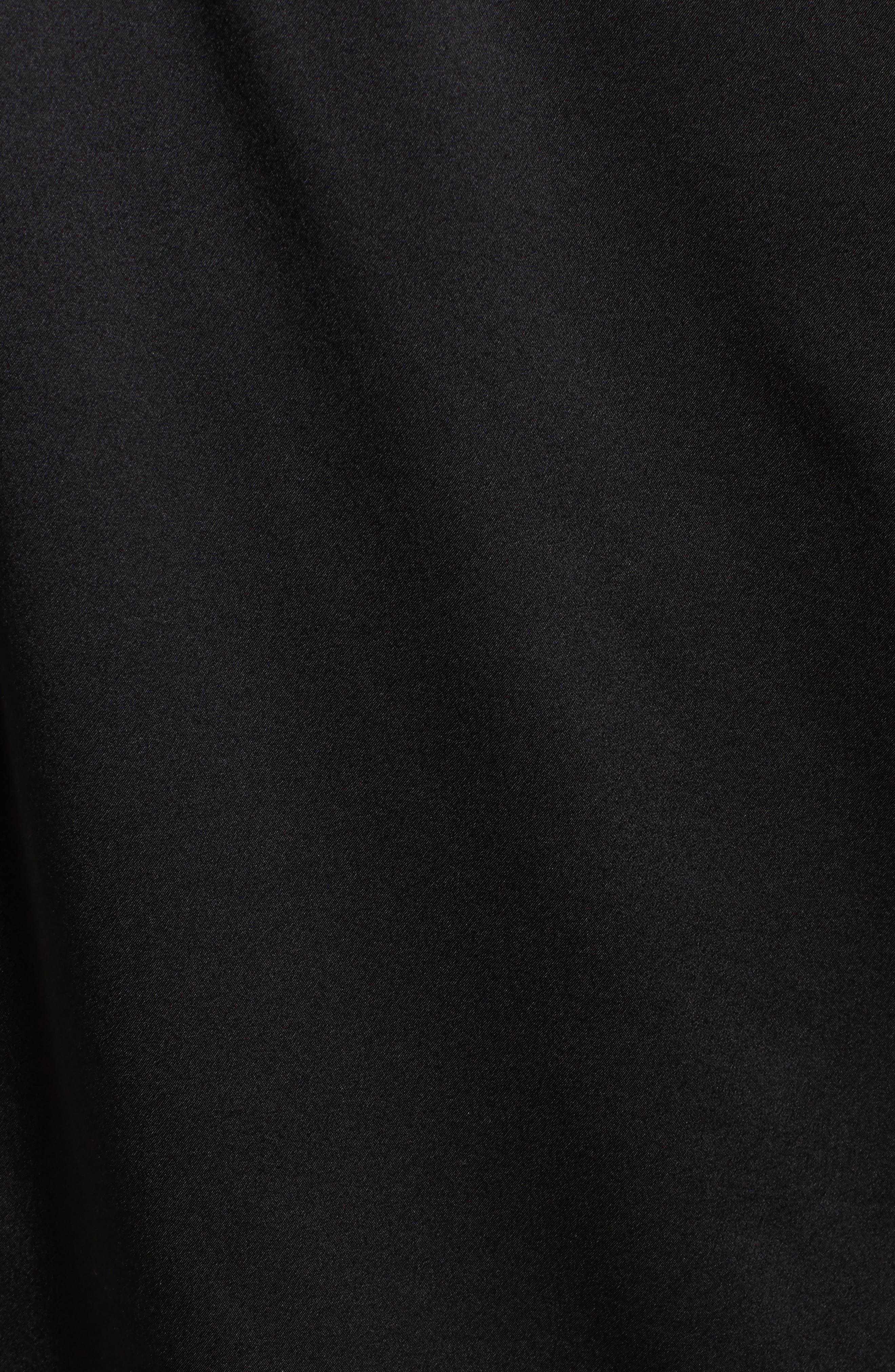 Ripley One-Shoulder Silk Blouse,                             Alternate thumbnail 5, color,                             Black