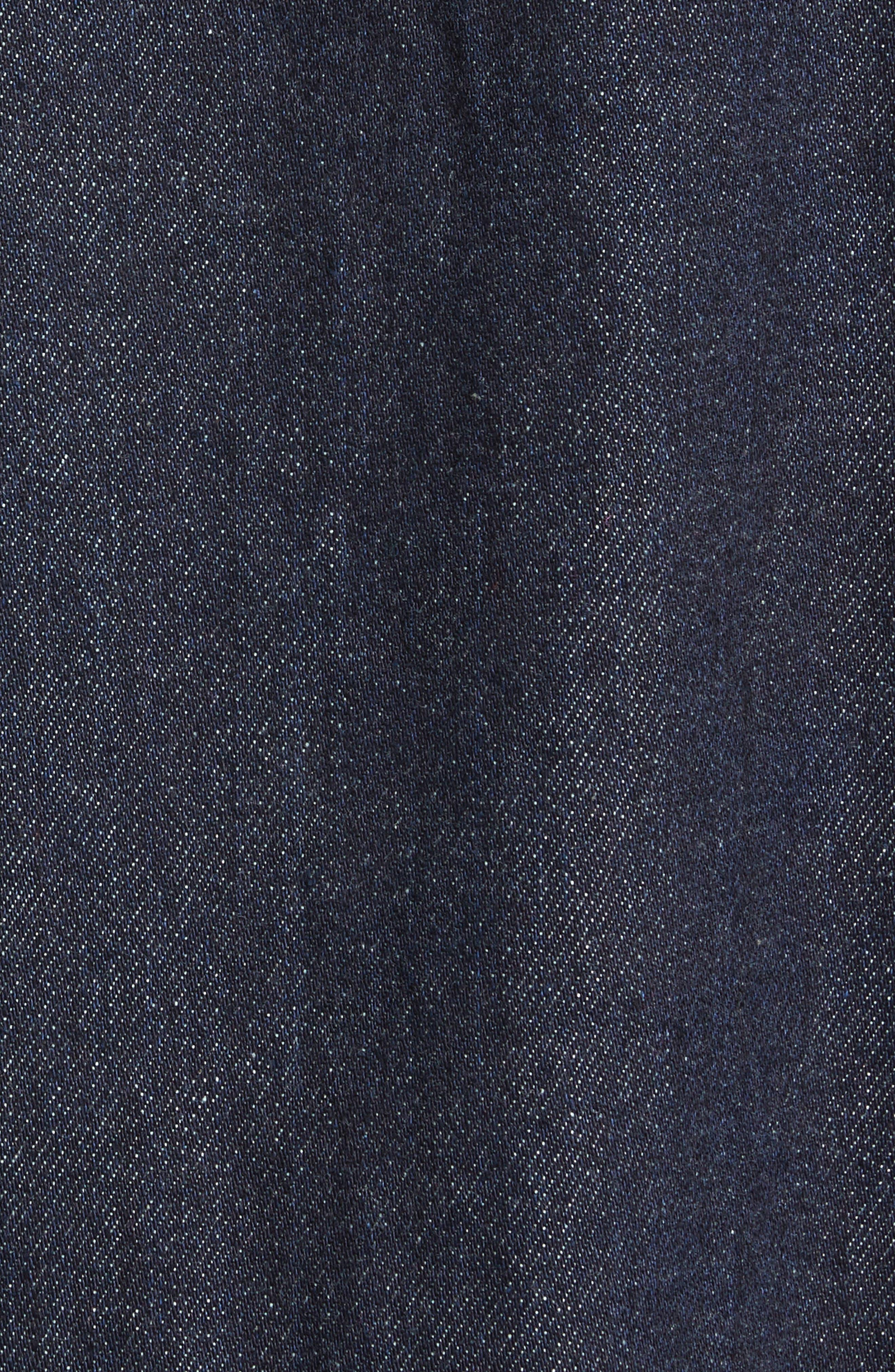 Denim Tunic Dress,                             Alternate thumbnail 5, color,                             Indigo