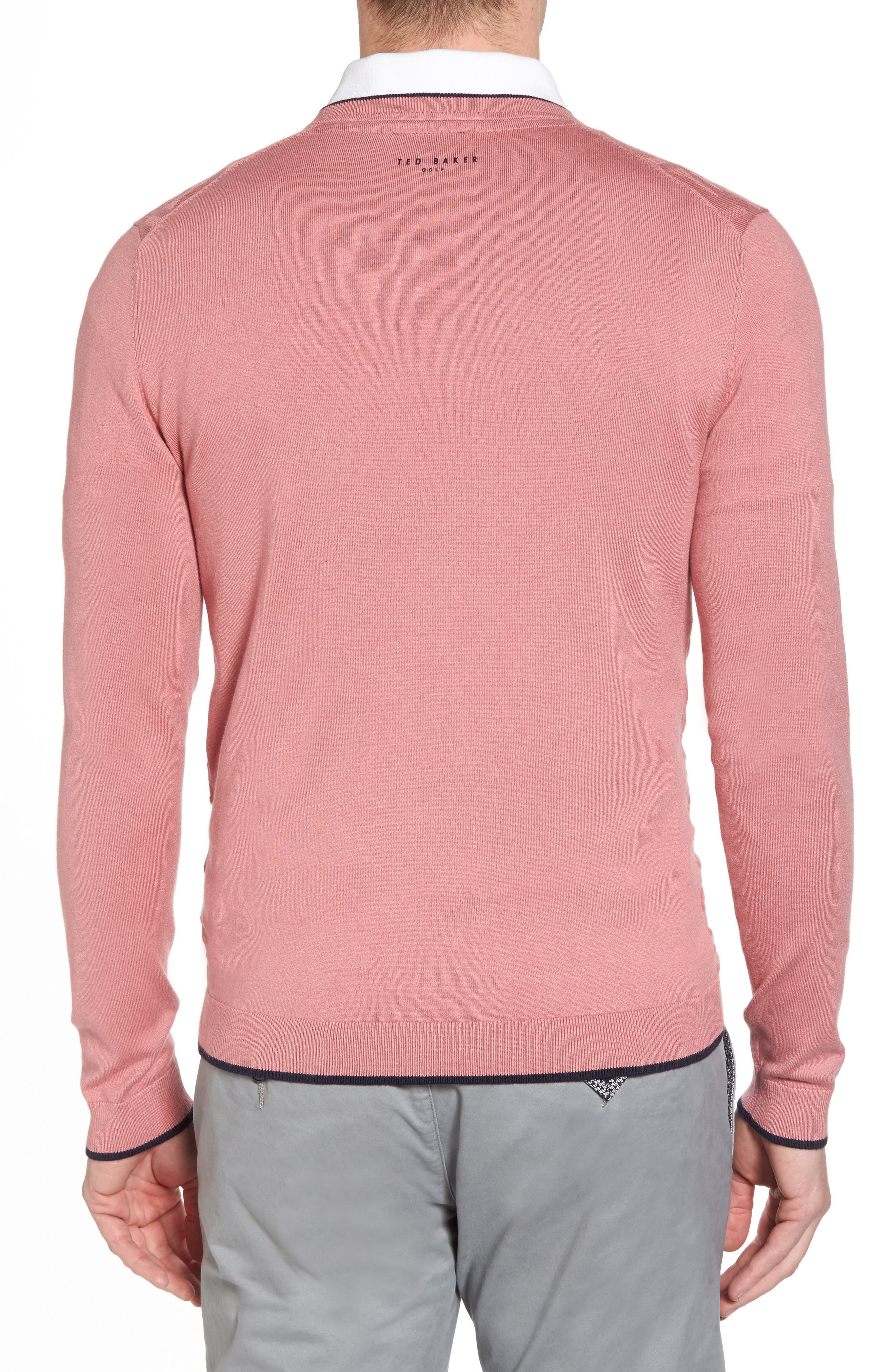 Armstro Tipped Golf Tee Sweater,                             Alternate thumbnail 2, color,                             Mid Pink