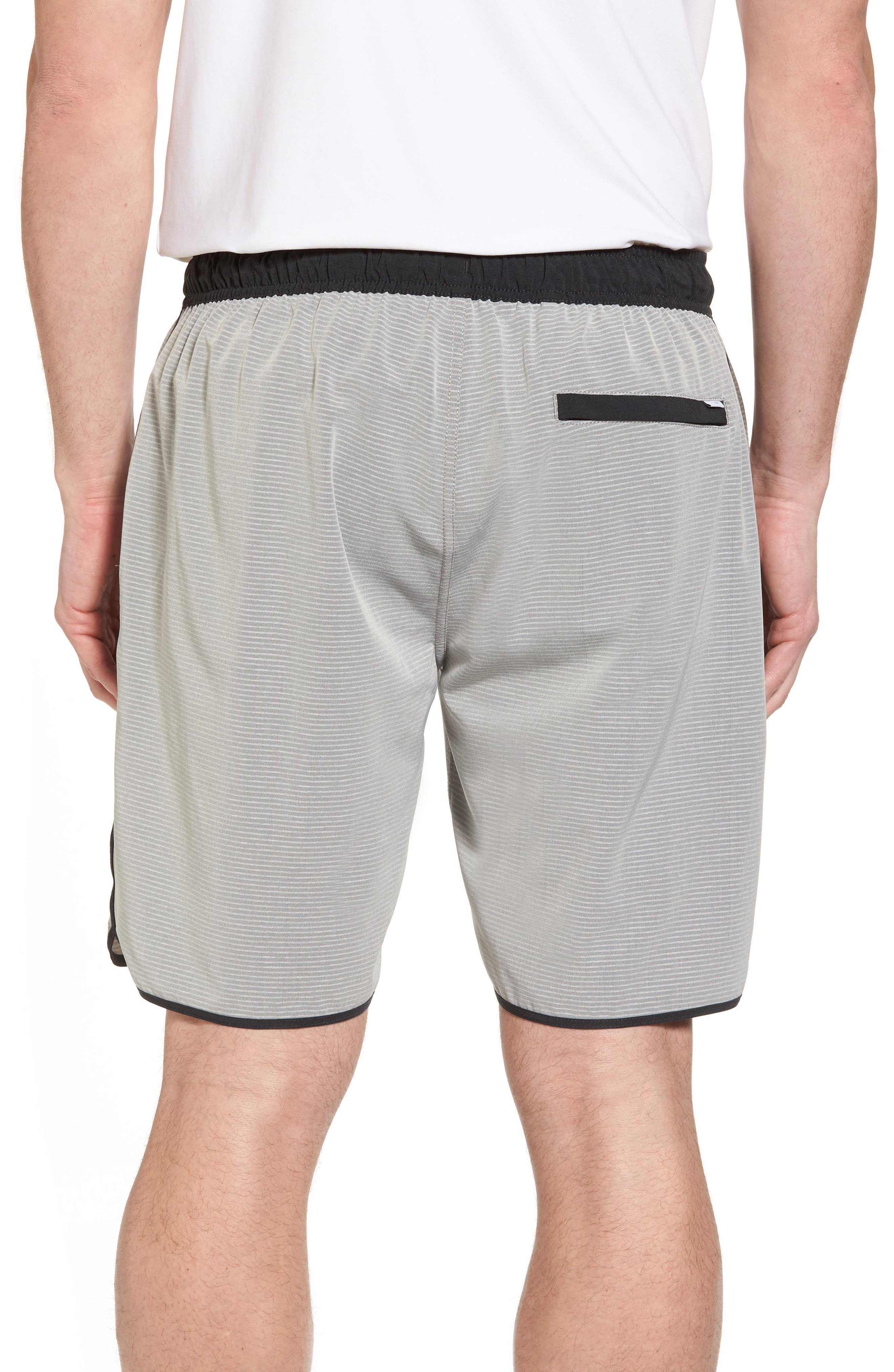 Banks Athletic Shorts,                             Alternate thumbnail 2, color,                             Light Grey Engineered Stripe