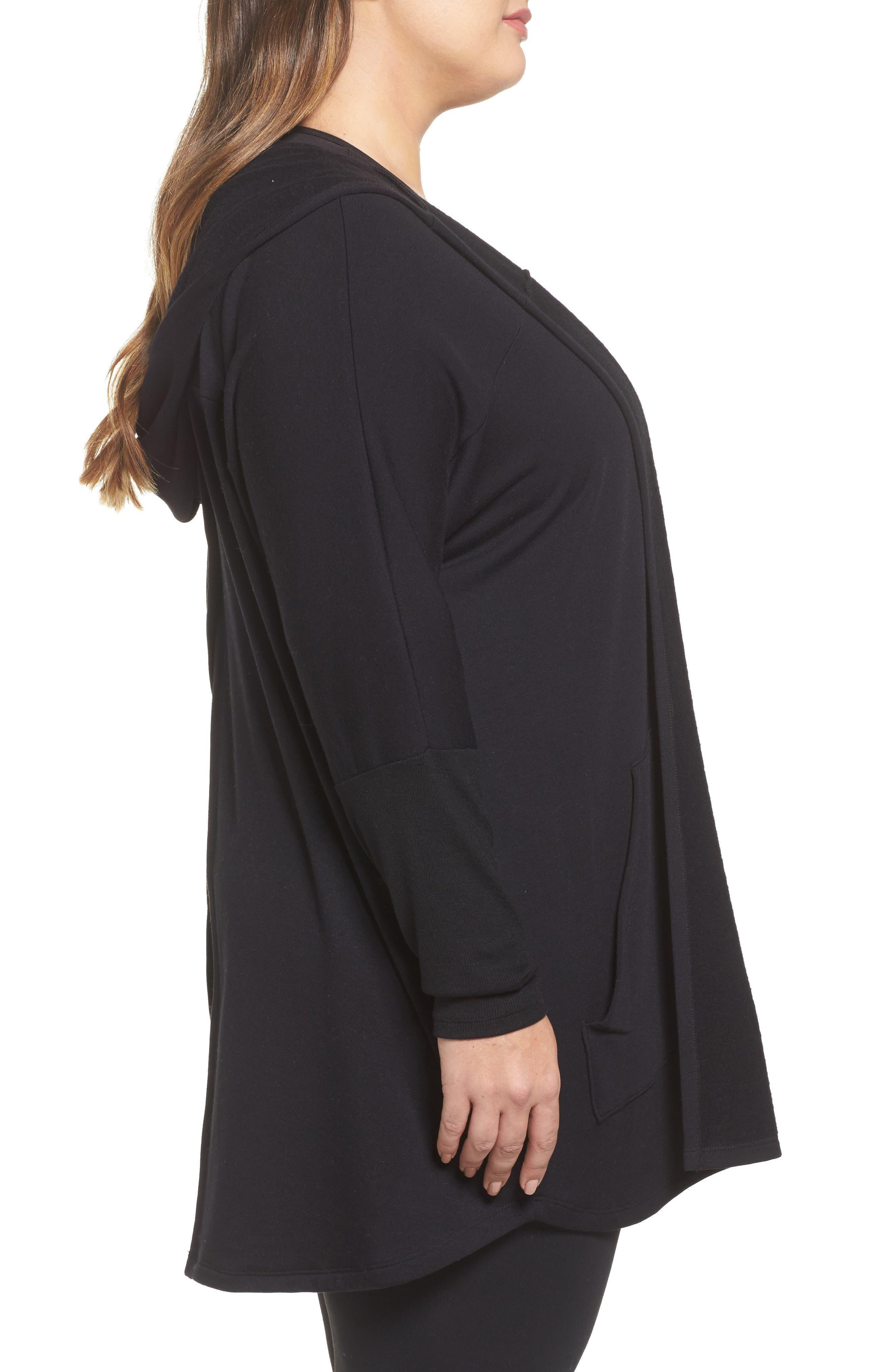 Alternate Image 3  - Beyond Yoga Love & Fleece Split-Back Hooded Cardigan (Plus Size)