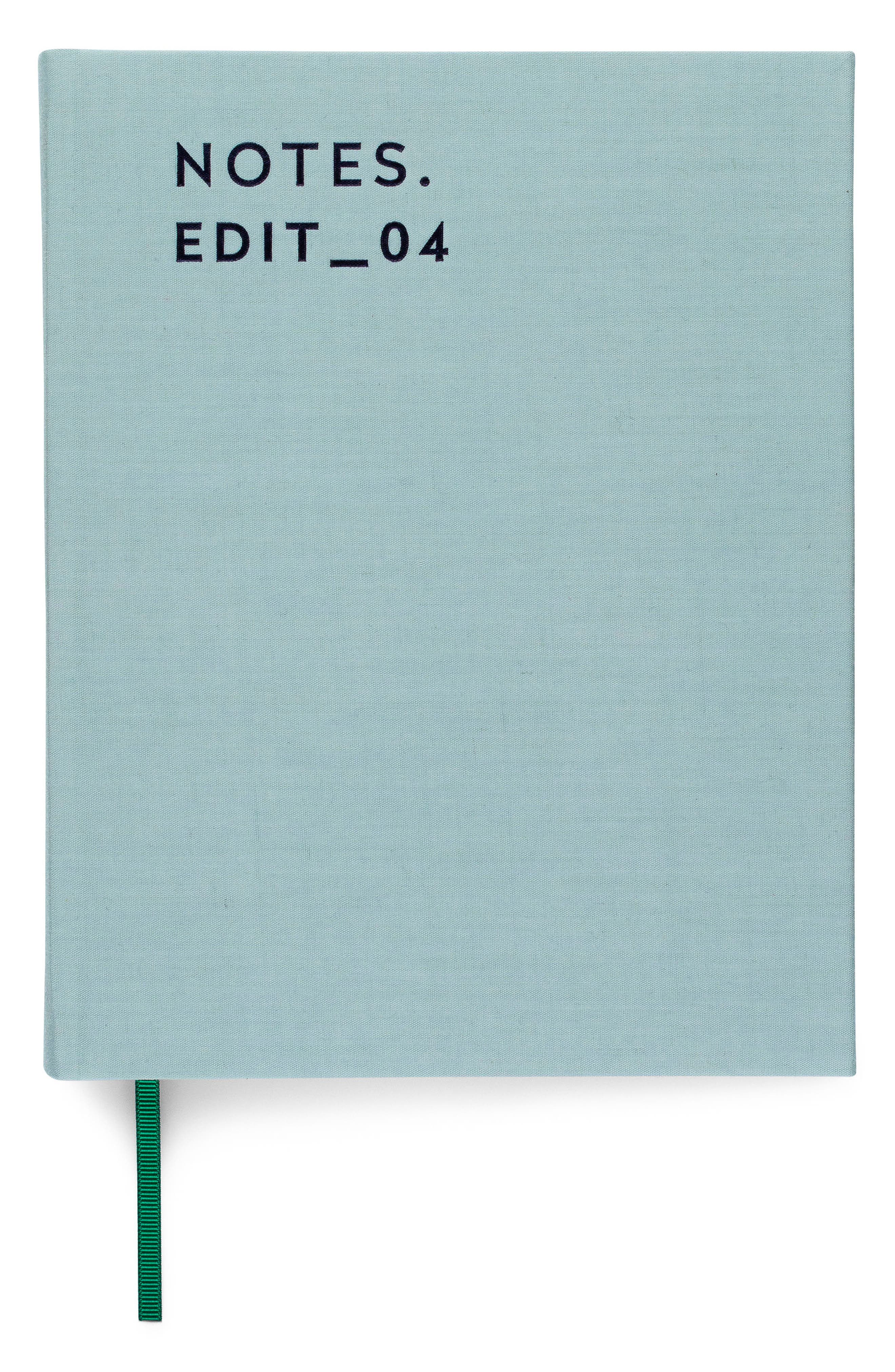 Notes Fabric Bound Journal,                             Main thumbnail 1, color,                             Dusty Mint
