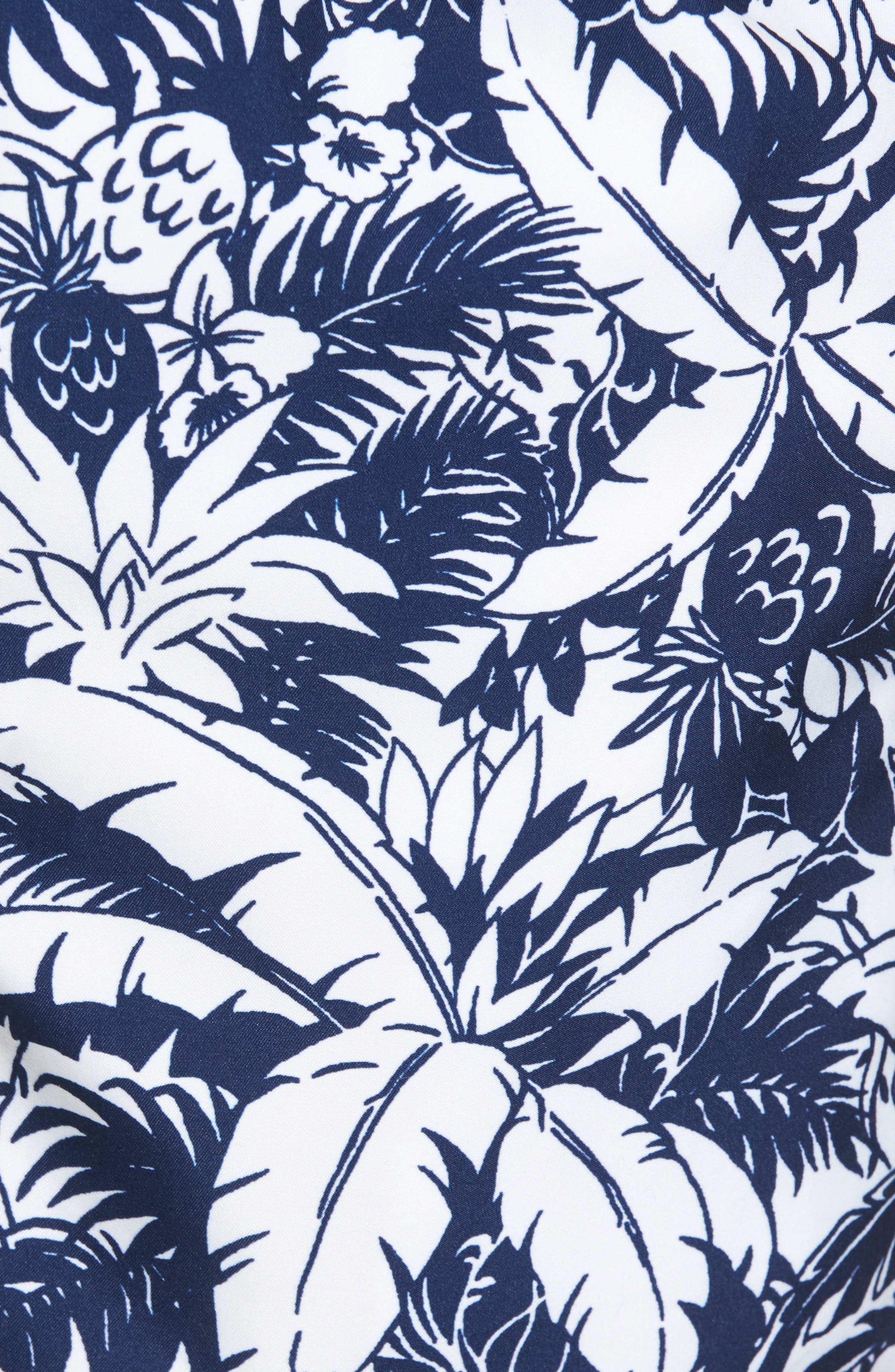 Chappy Pineapple in Palms Swim Trunks,                             Alternate thumbnail 5, color,                             Deep Bay