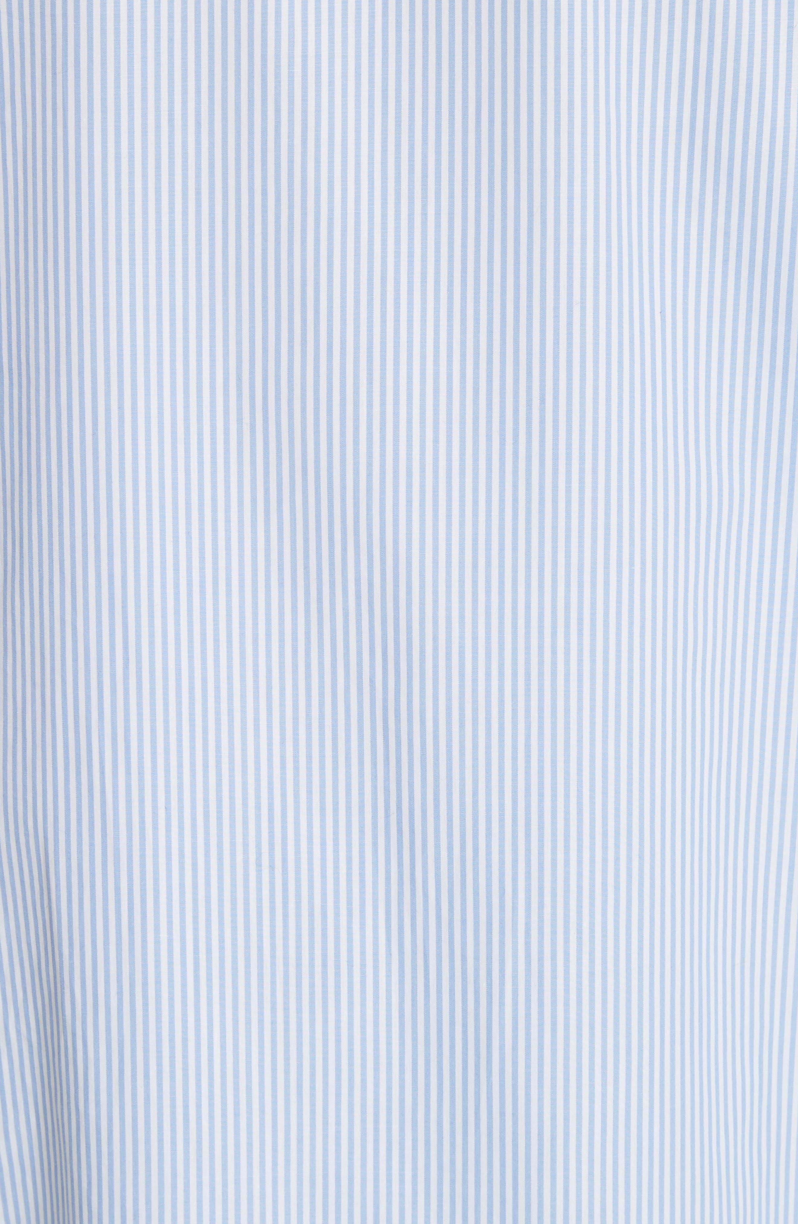 Kenton Stripe Poplin Top,                             Alternate thumbnail 5, color,                             Bright White