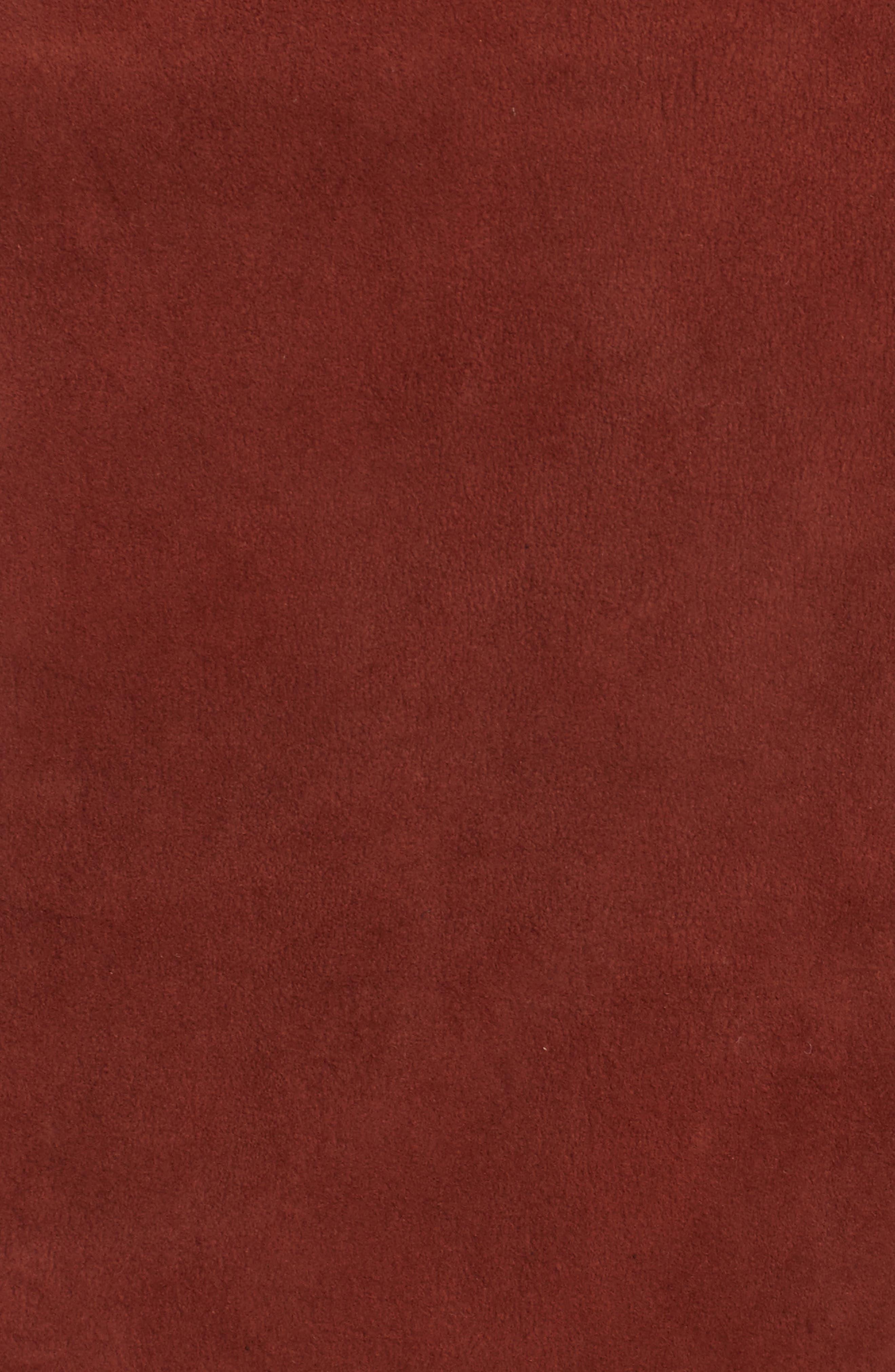 Morene Stretch Suede Jacket,                             Alternate thumbnail 5, color,                             Brown Russet