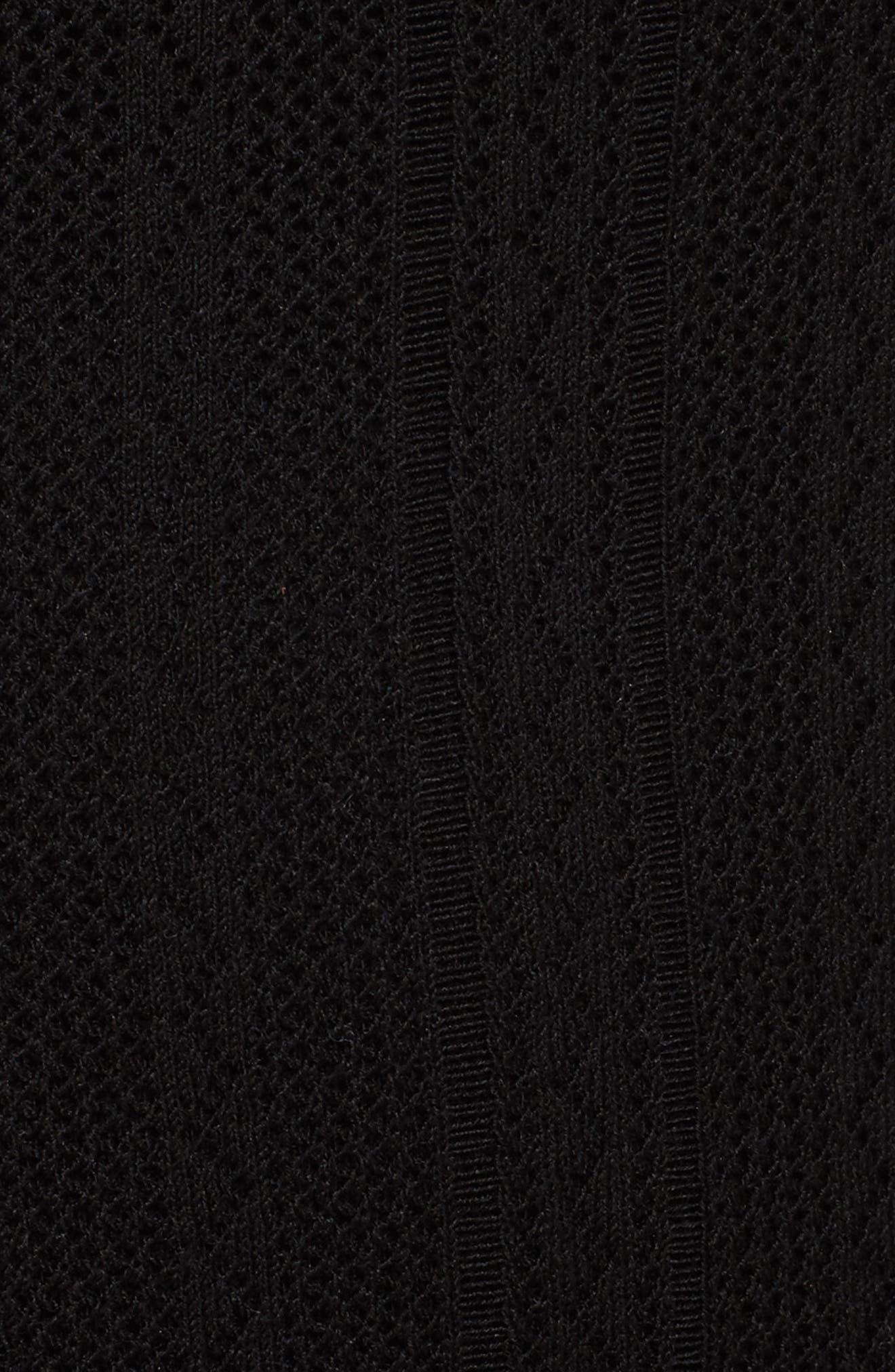 Prosecco Lace Knit Cardigan,                             Alternate thumbnail 5, color,                             Black