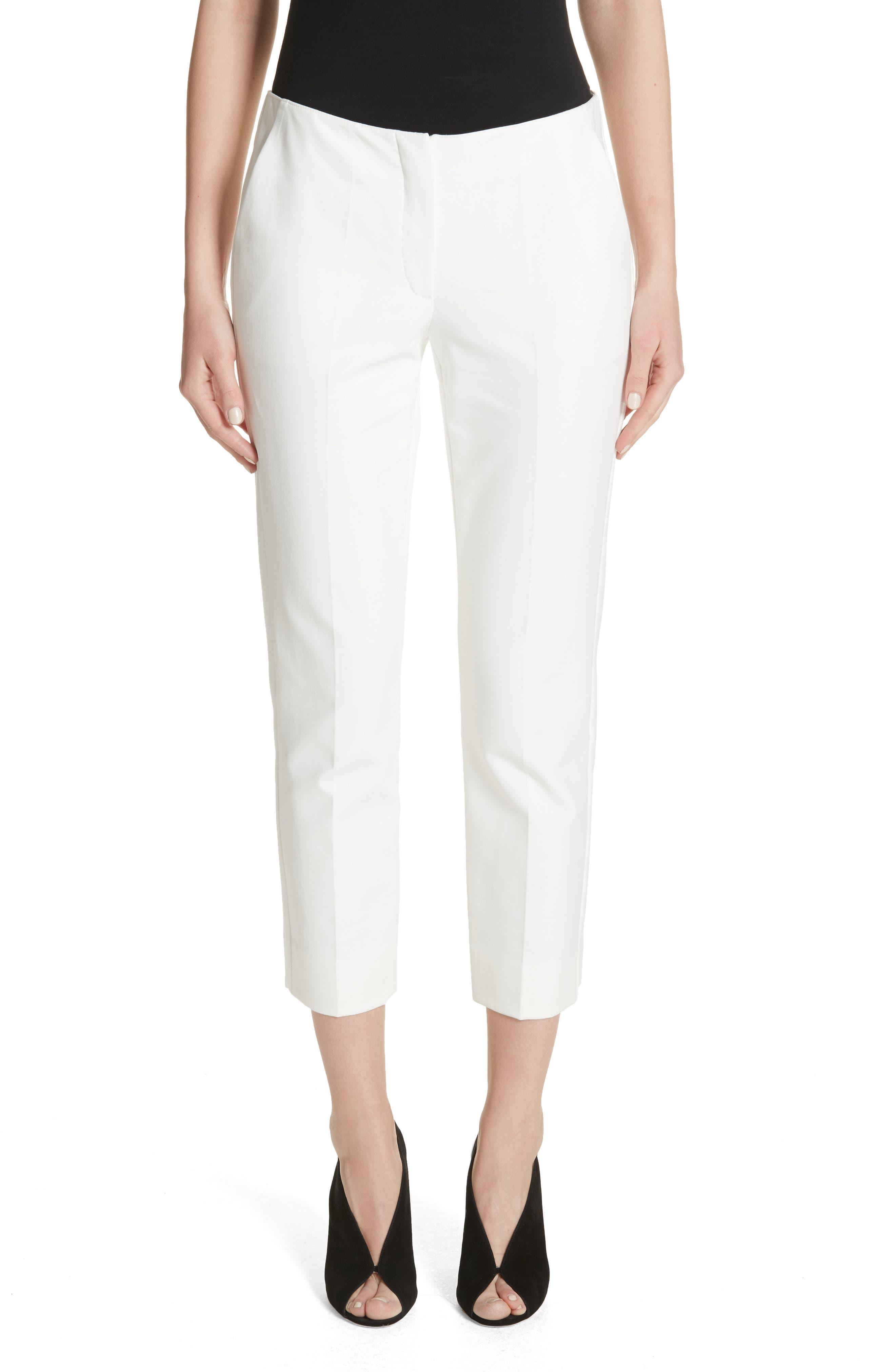 Tech Cotton Blend Pants,                         Main,                         color, Warm White