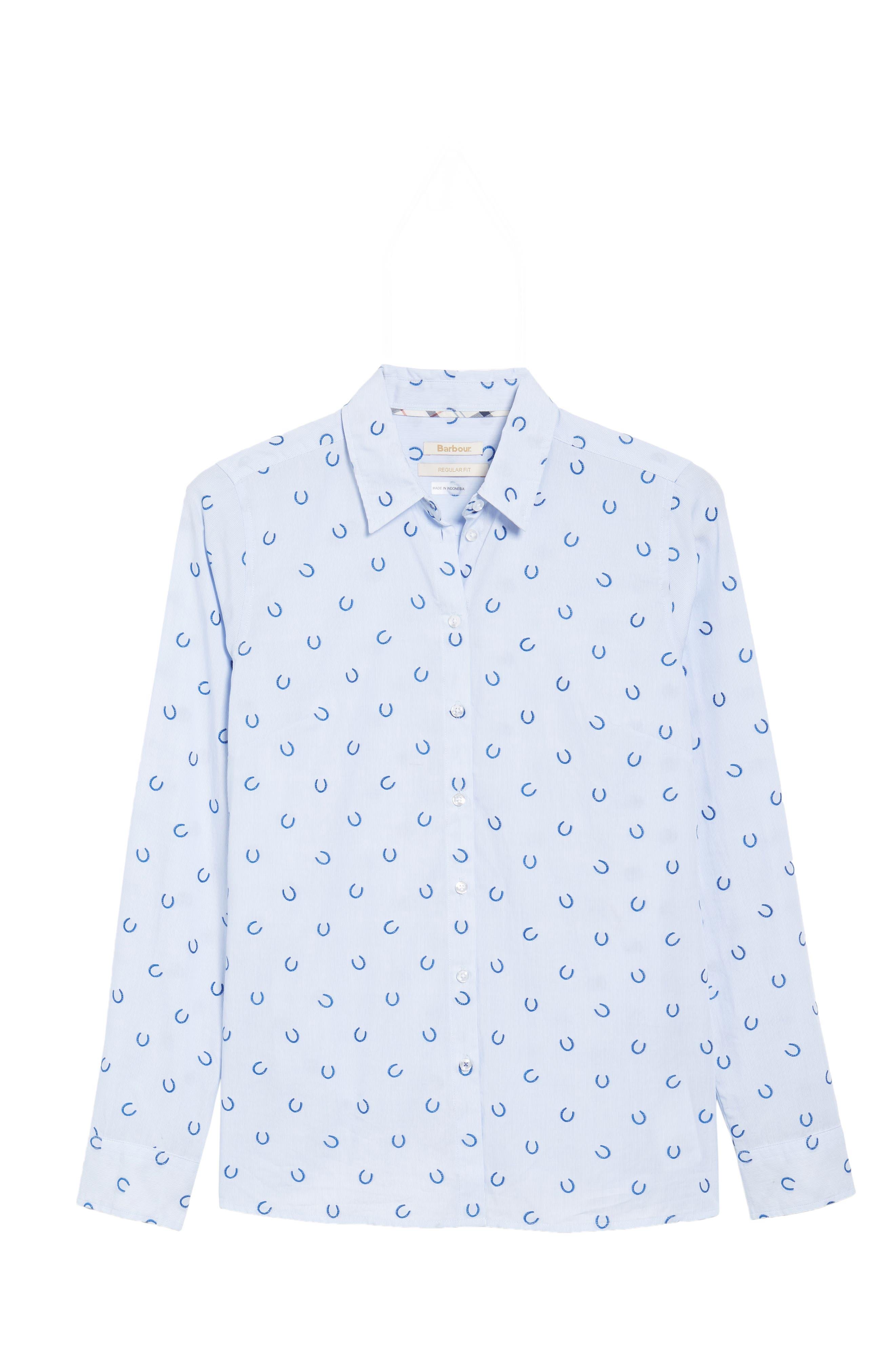 Daisyhill Regular Fit Shirt,                             Alternate thumbnail 6, color,                             Pale Blue
