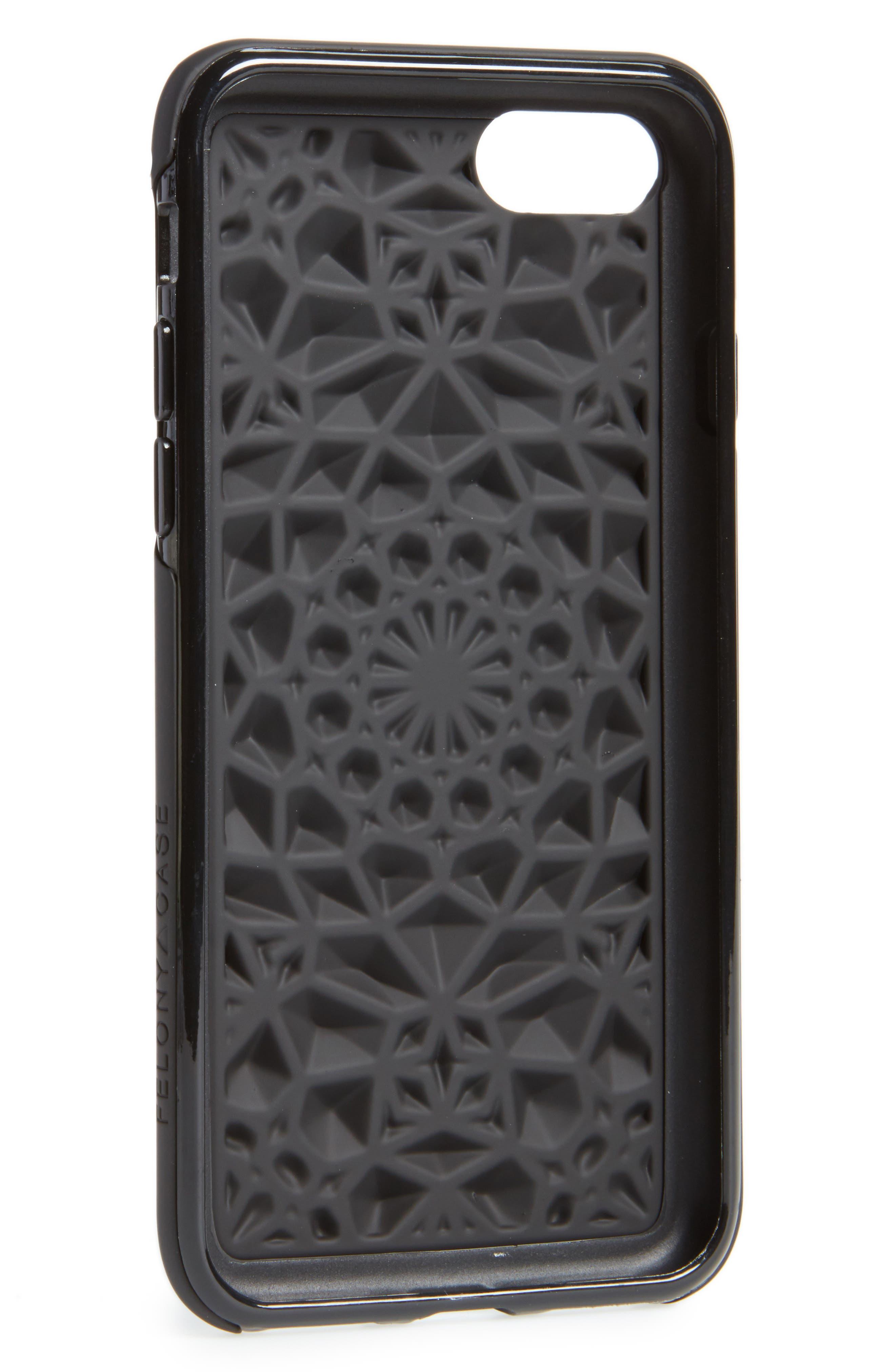 Matte Kaleidoscope iPhone 7/8 & 7/8 Plus Case,                             Alternate thumbnail 2, color,                             Black