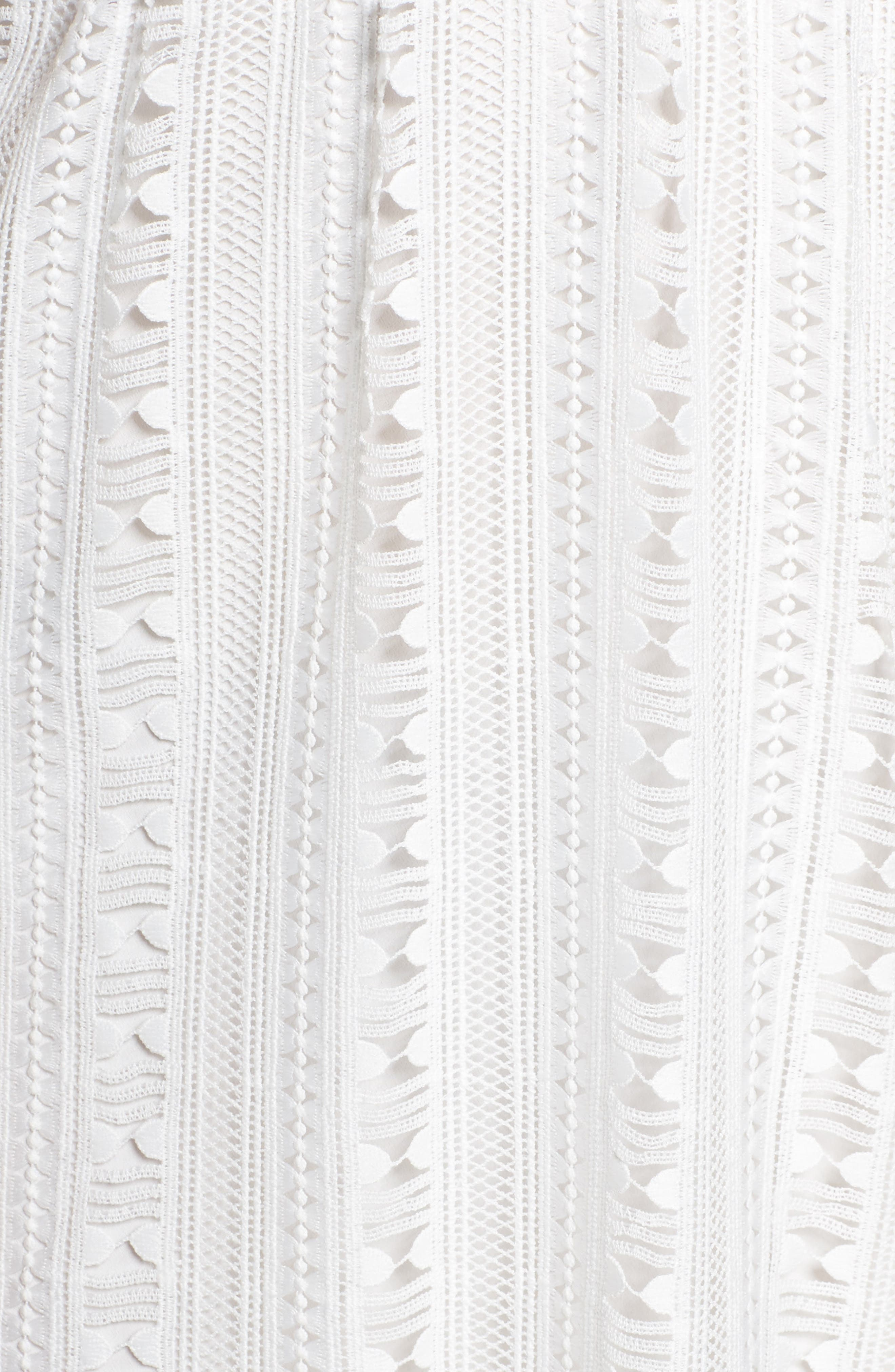 Belissimo Lace Fit & Flare Midi Dress,                             Alternate thumbnail 6, color,                             White