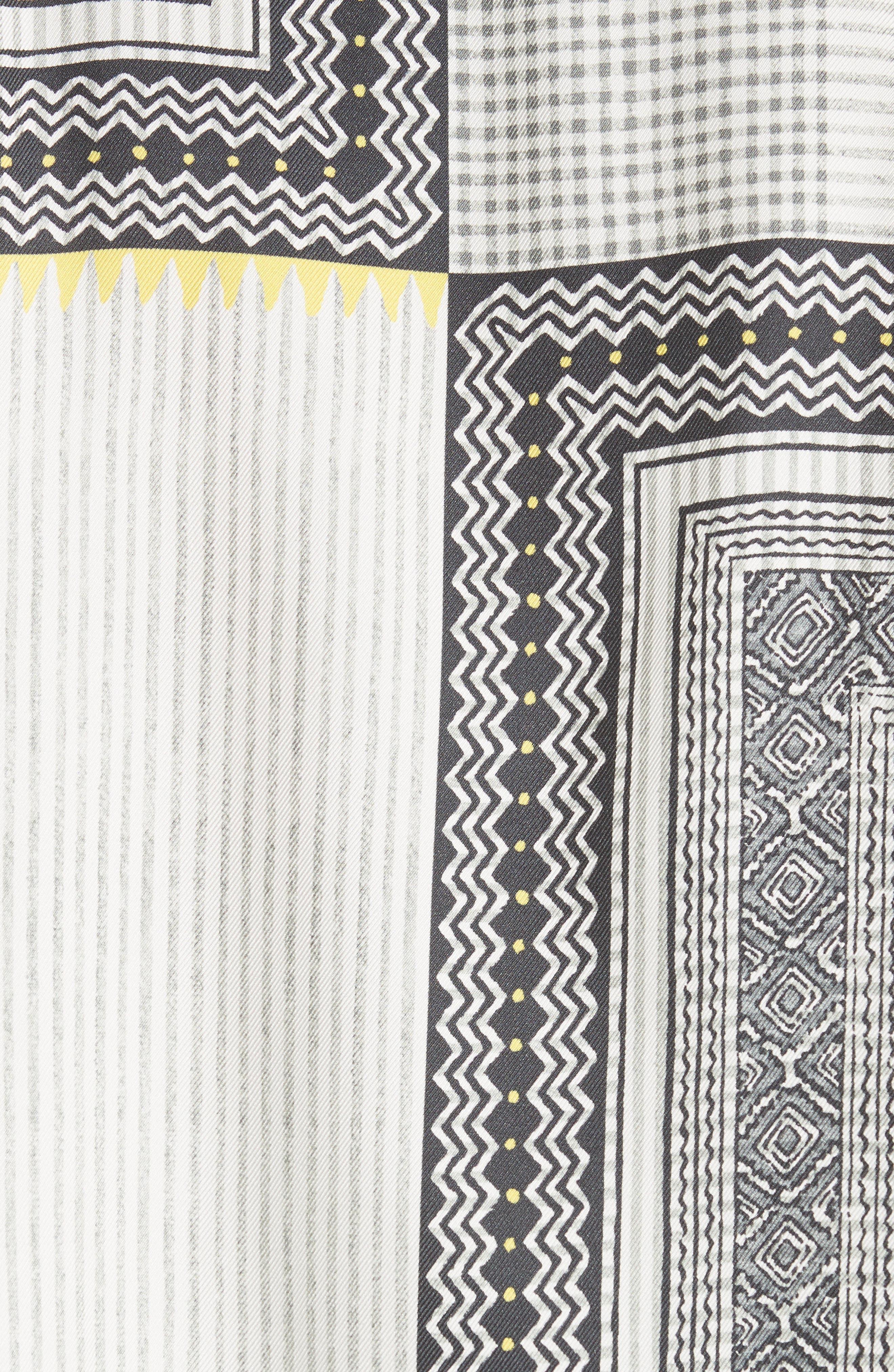 Pearl Button Silk Top,                             Alternate thumbnail 6, color,                             White