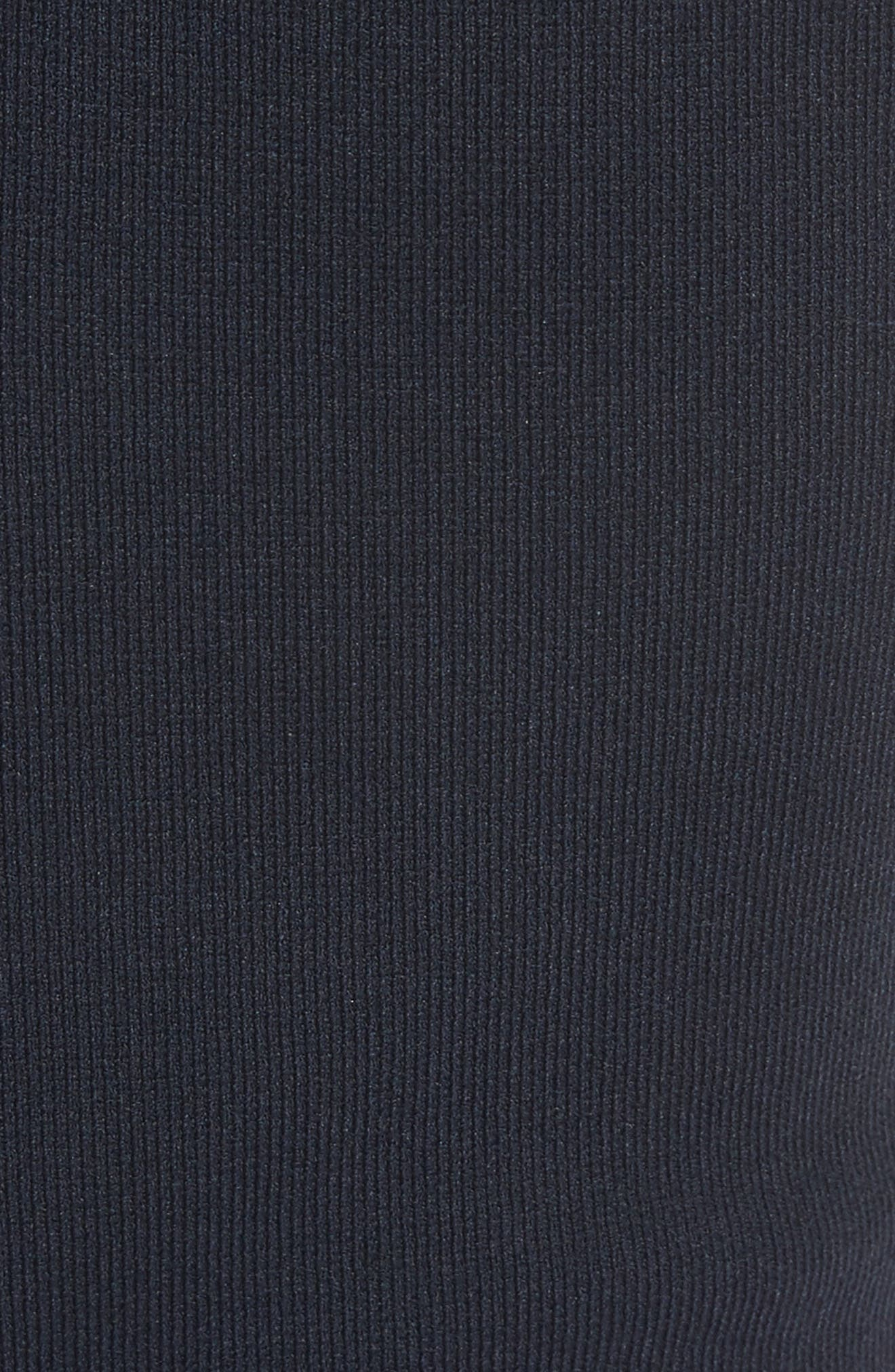 Woven Trim Fit & Flare Dress,                             Alternate thumbnail 5, color,                             Navy Multi