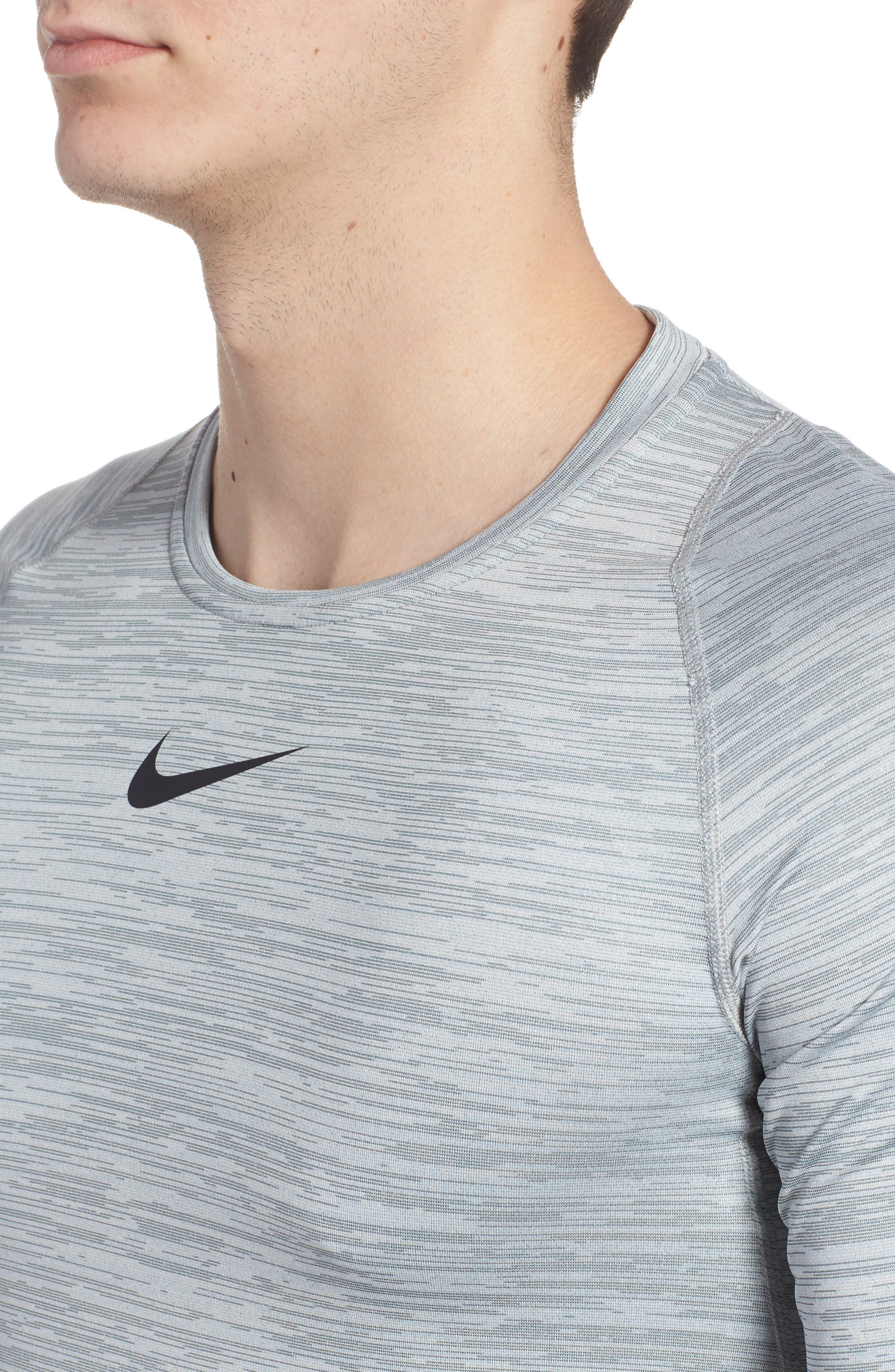 Training Top Crewneck T-Shirt,                             Alternate thumbnail 4, color,                             Cool Grey/ White/ Black
