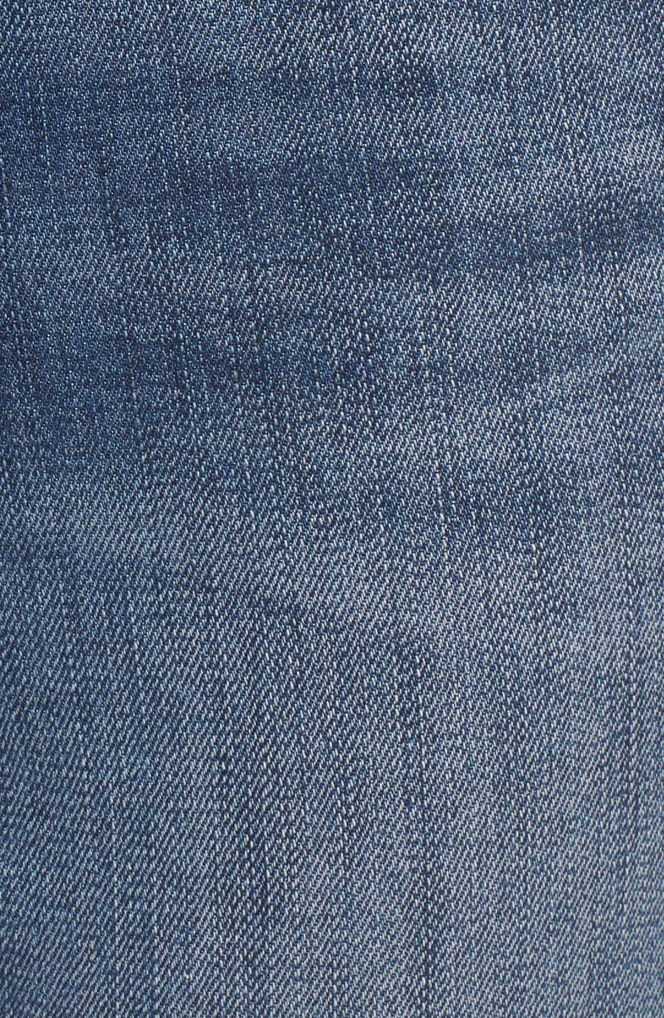 Charity High Waist Skinny Ankle Jeans,                             Alternate thumbnail 7, color,                             Rain Dusk Worn