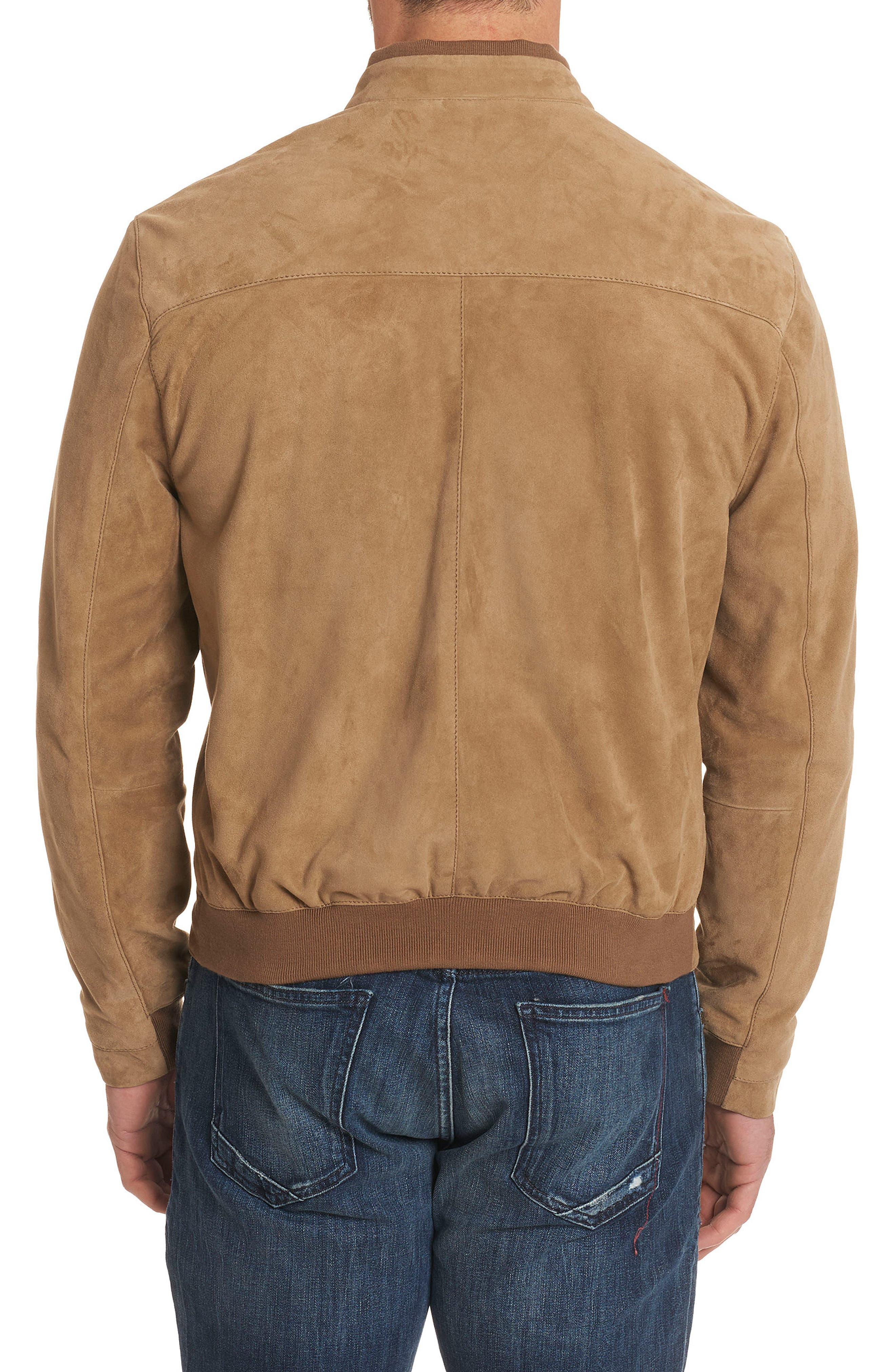 Ramos Suede Bomber Jacket,                             Alternate thumbnail 2, color,                             Tan
