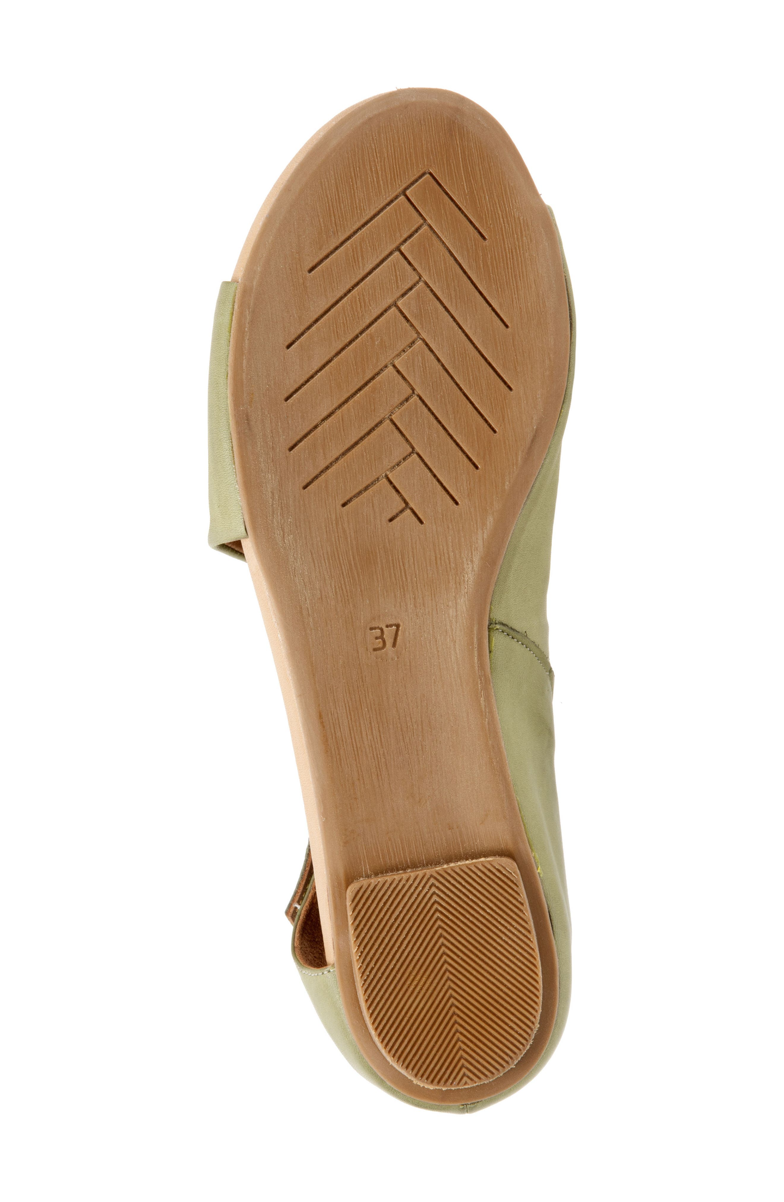 Kale Sandal,                             Alternate thumbnail 6, color,                             Moss Leather