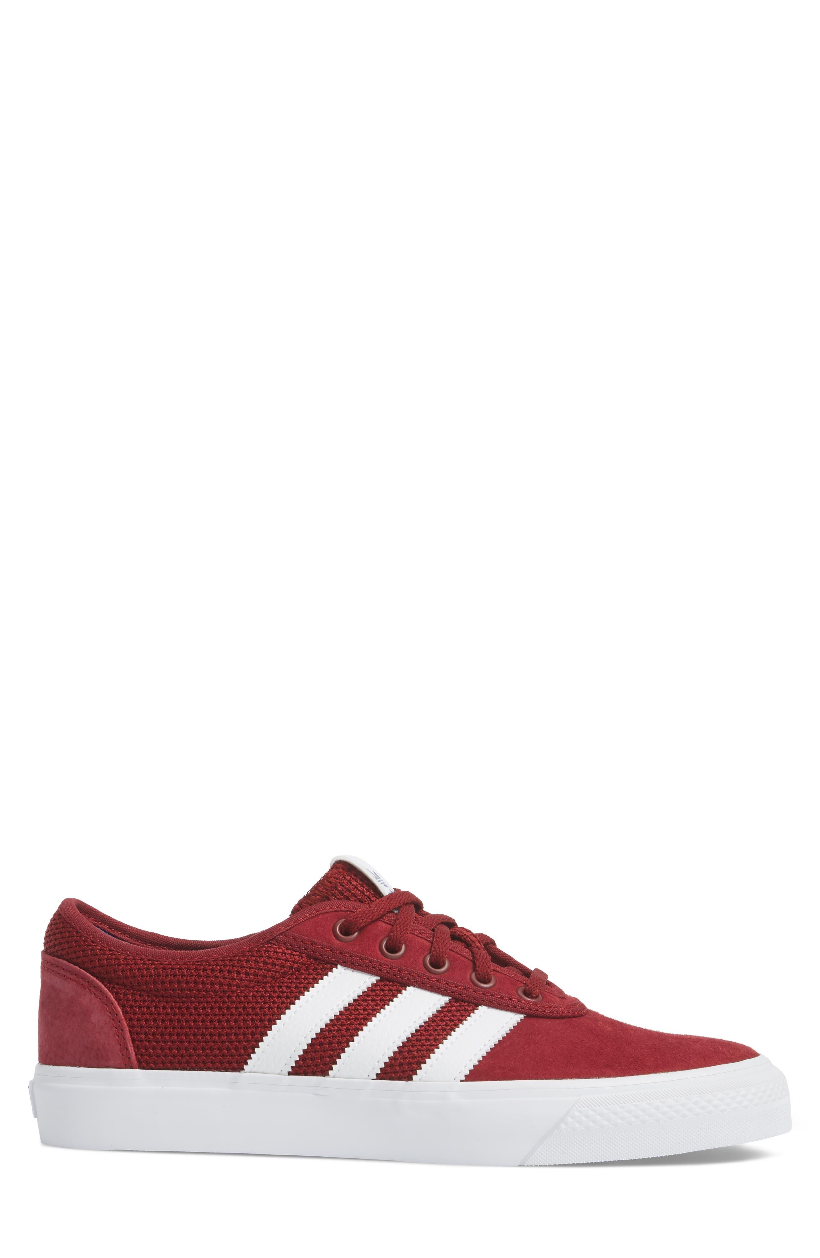 adi-Ease Sneaker,                             Alternate thumbnail 3, color,                             Burgundy/ White / Royal