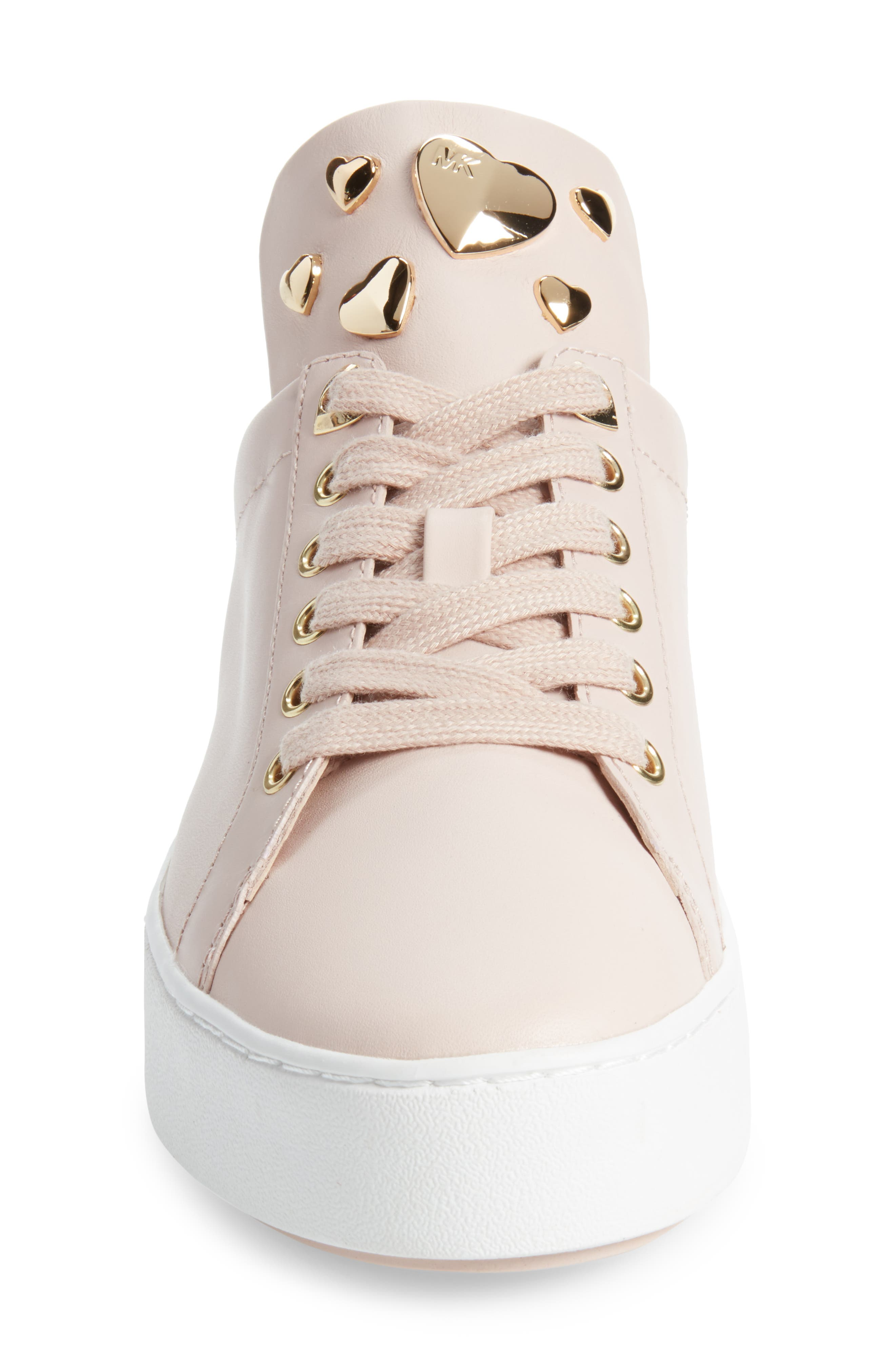 Mindy Platform Sneaker,                             Alternate thumbnail 4, color,                             Soft Pink Studs