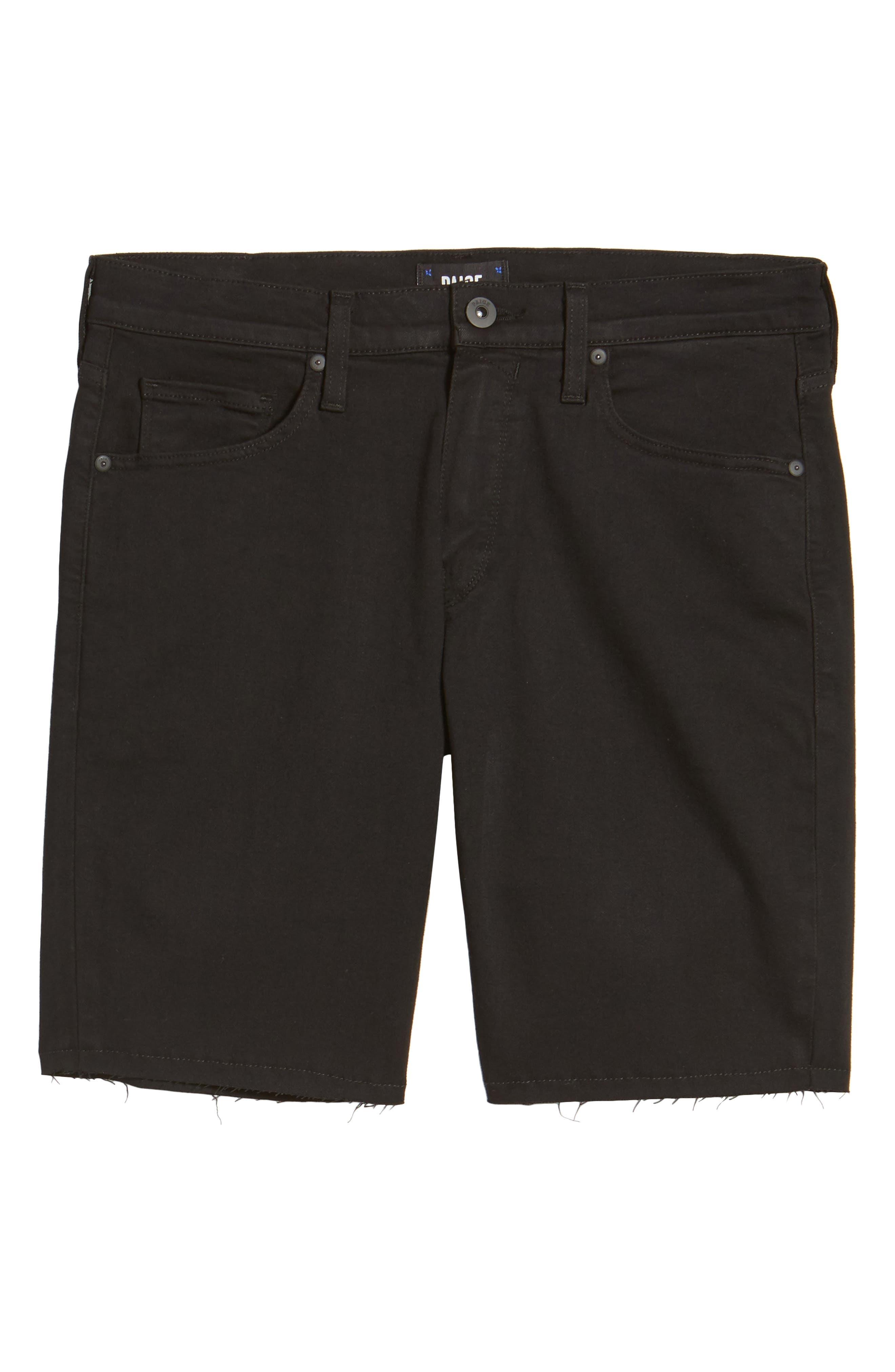 Alternate Image 6  - PAIGE Transcend - Federal Slim Straight Leg Denim Shorts (Black Shadow)