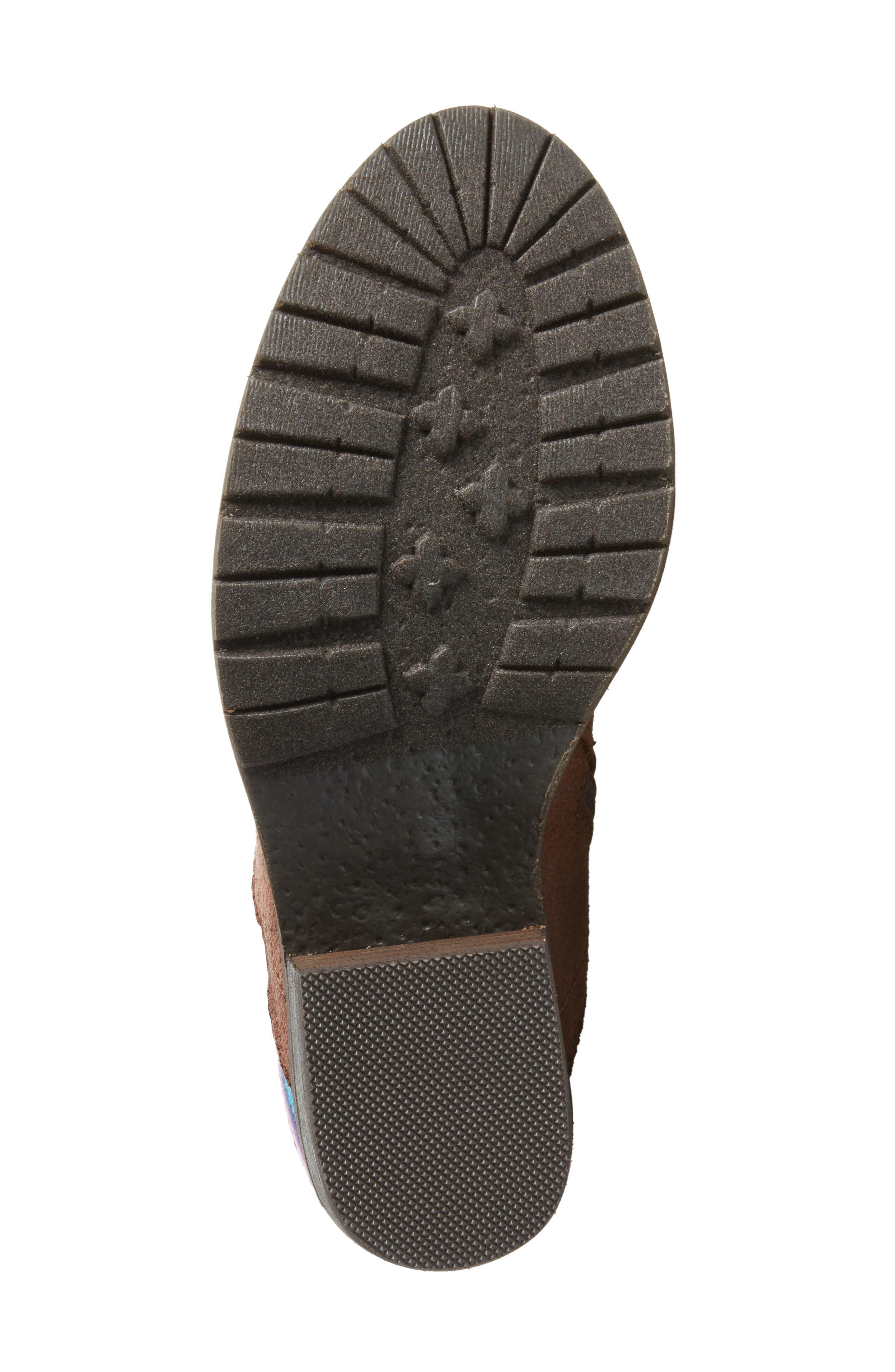 Marcel Corseted Knee High Boot,                             Alternate thumbnail 6, color,                             Serape