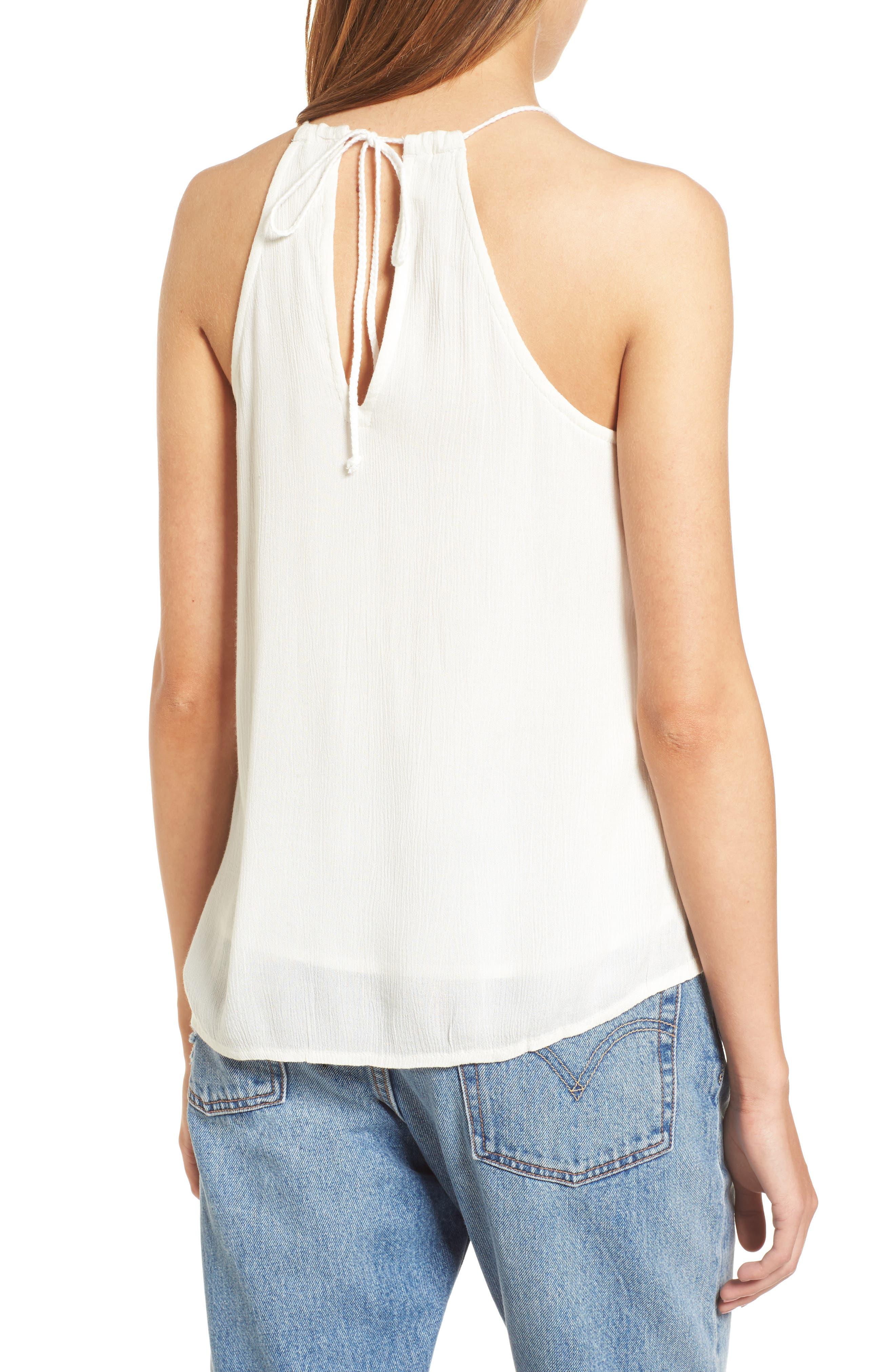 Local in the Sky Tie Back Tank,                             Alternate thumbnail 2, color,                             Marshmallow
