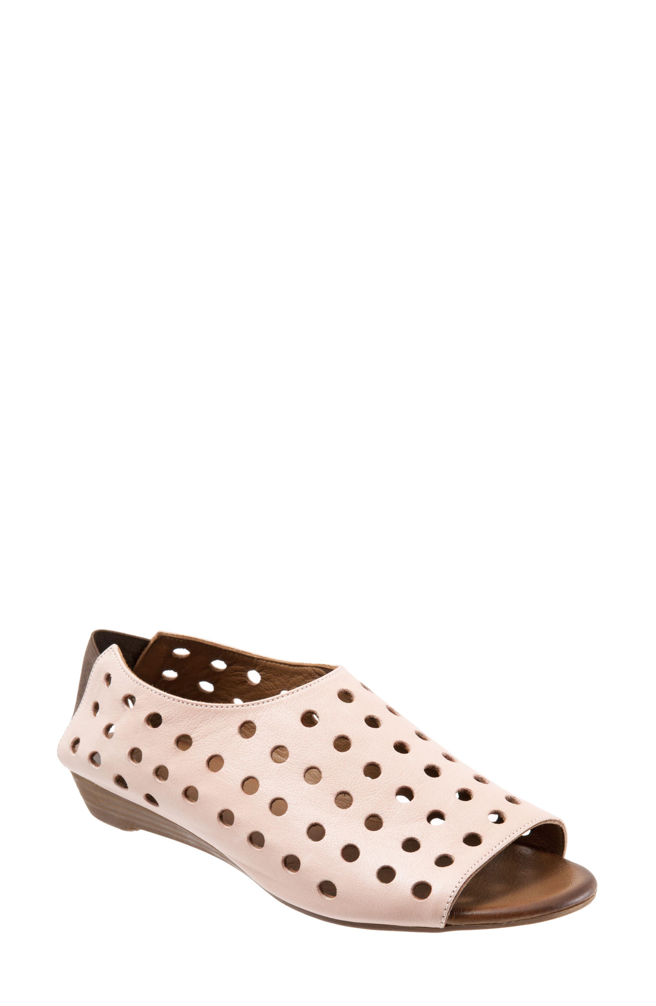 Addison Sandal,                             Main thumbnail 1, color,                             Pale Pink Leather