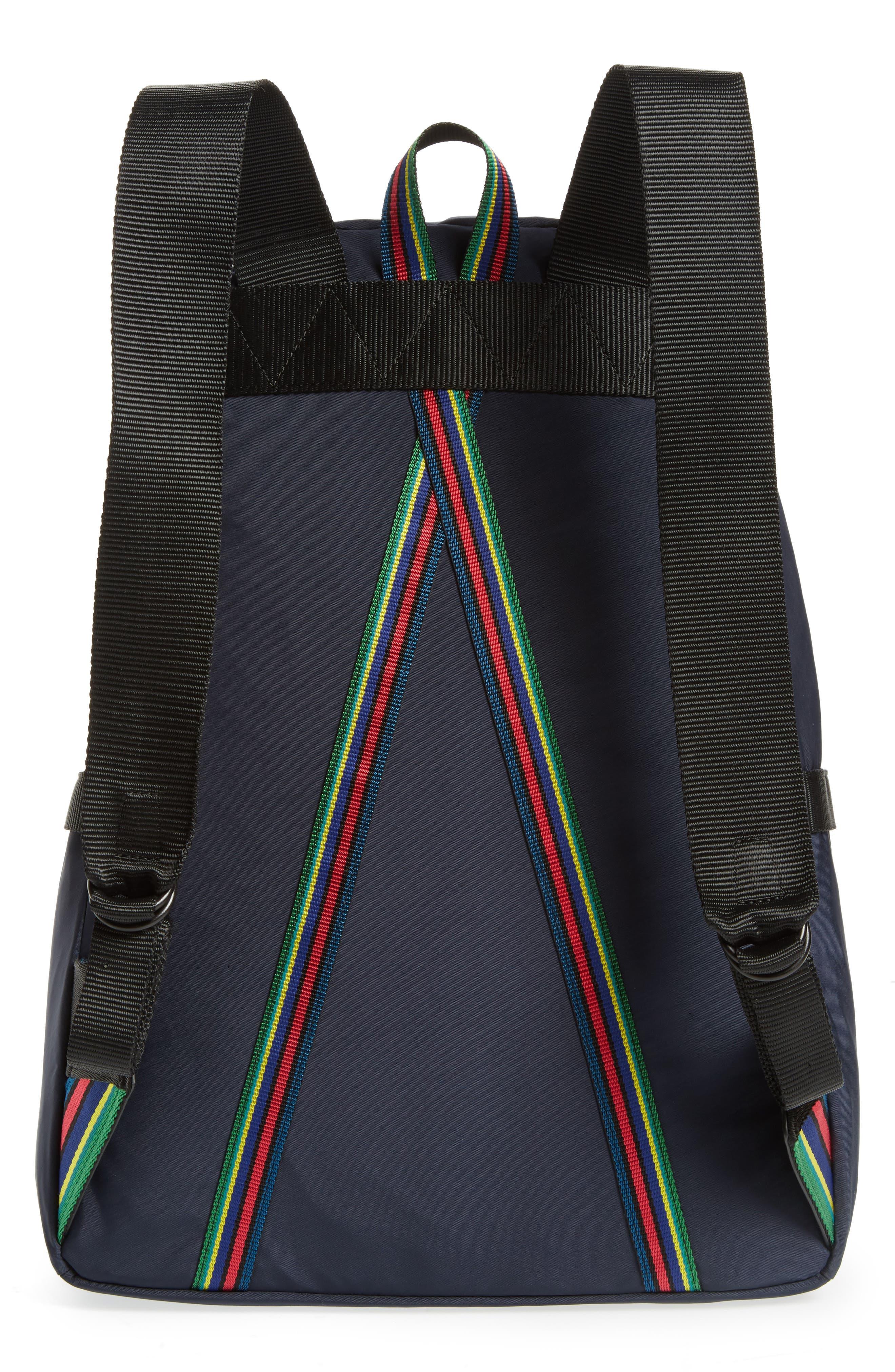 Nylon Backpack,                             Alternate thumbnail 3, color,                             Navy