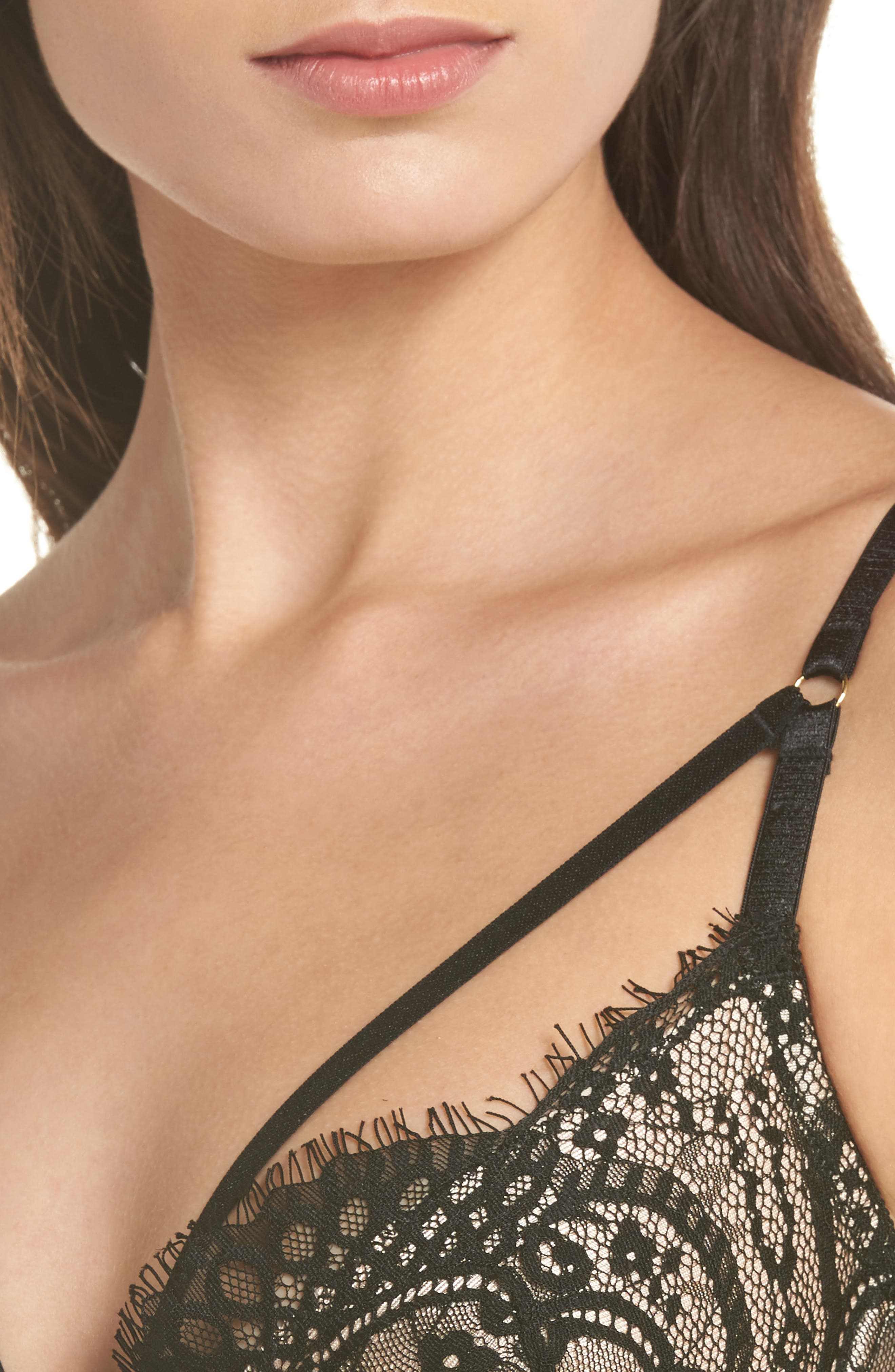 Between Sheets Underwire Bra,                             Alternate thumbnail 9, color,                             Black/ Nude