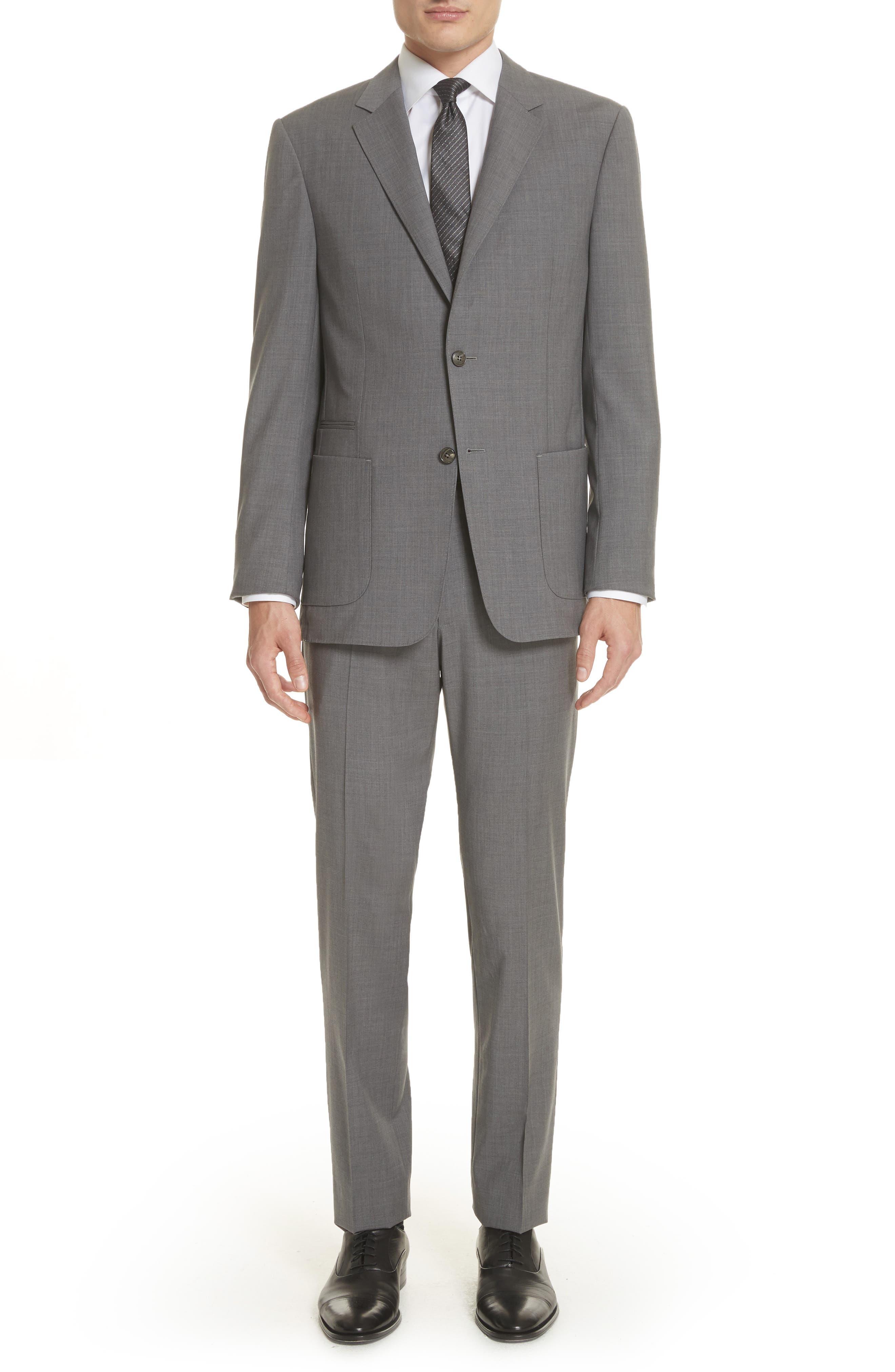 Z Zegna Techmerino Trim Fit Solid Wool Suit