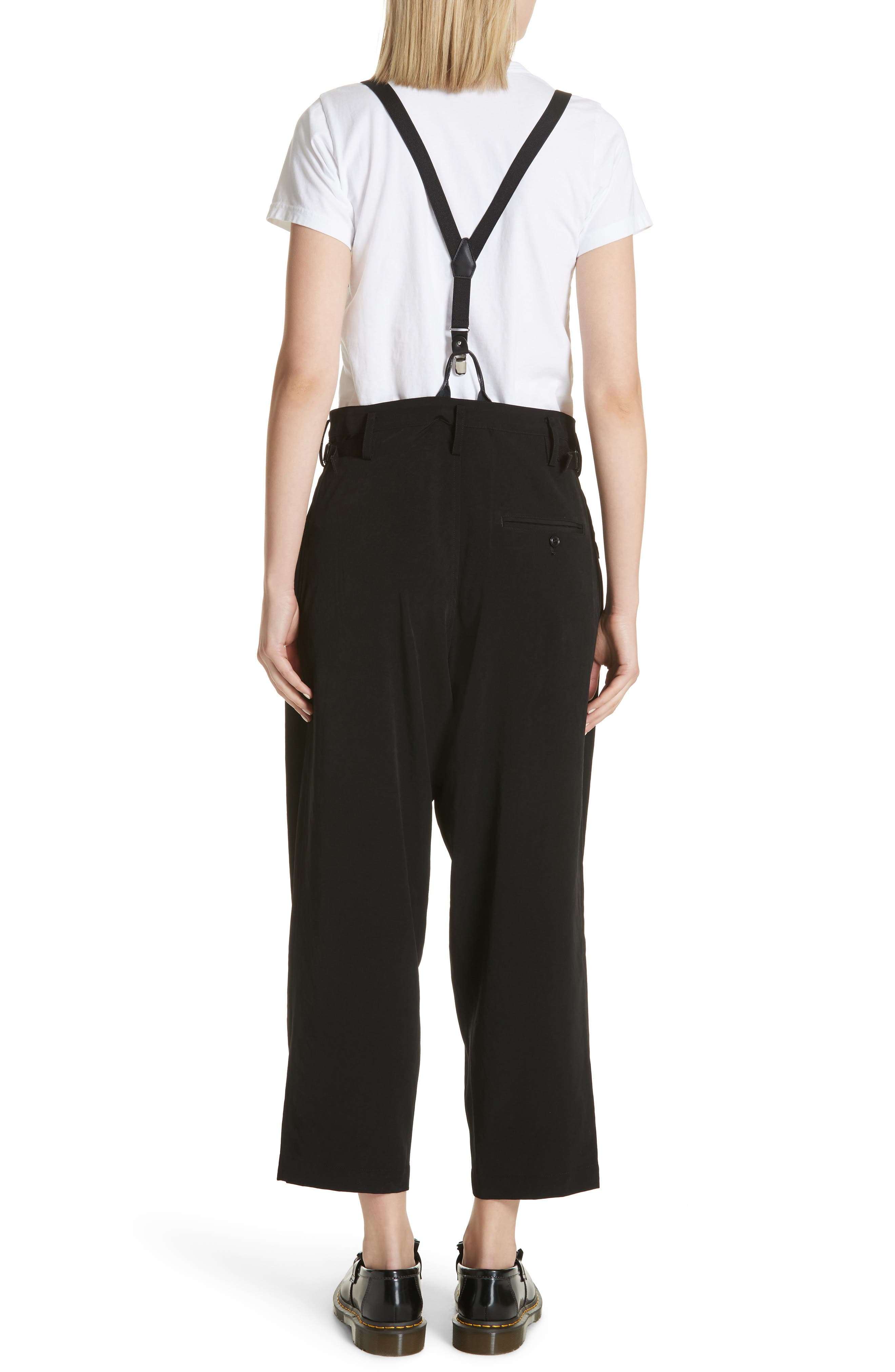 Pants with Suspenders,                             Alternate thumbnail 2, color,                             Black