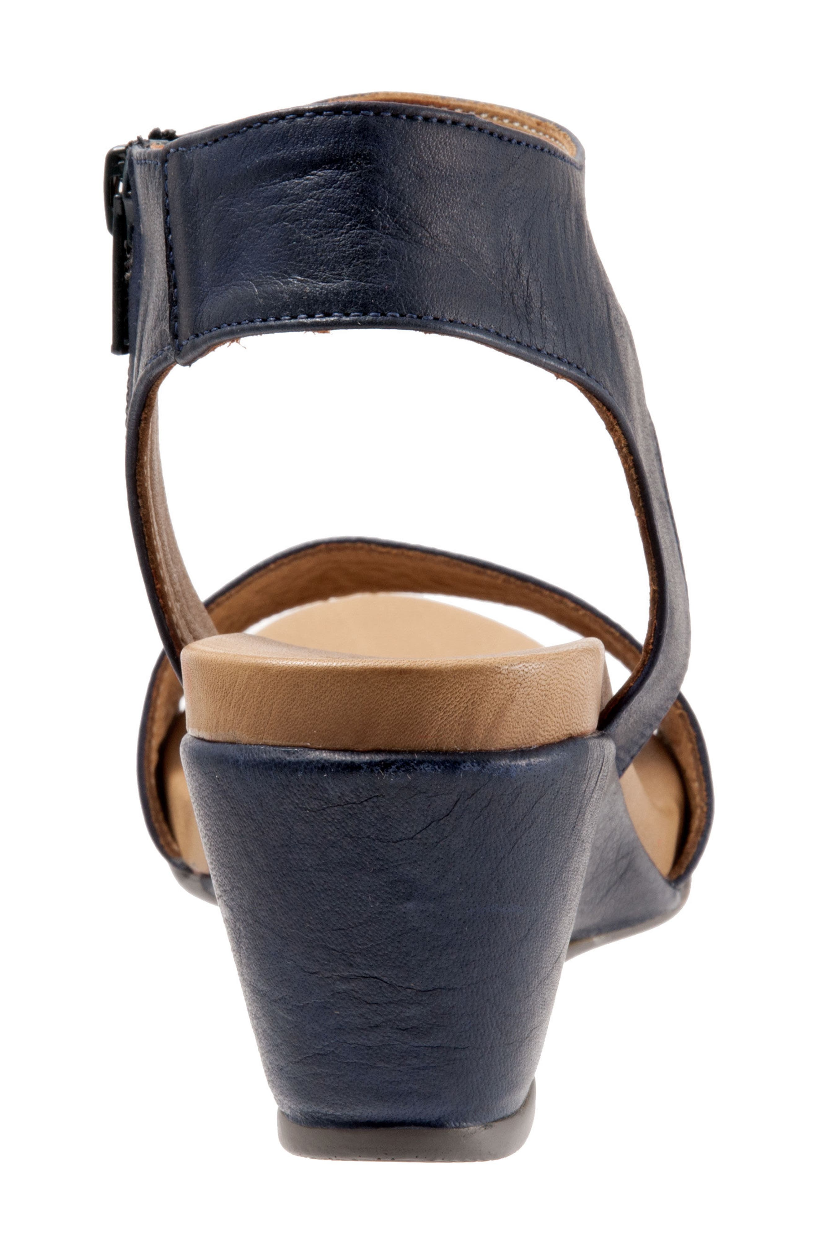Ida Wedge Sandal,                             Alternate thumbnail 6, color,                             Black Leather