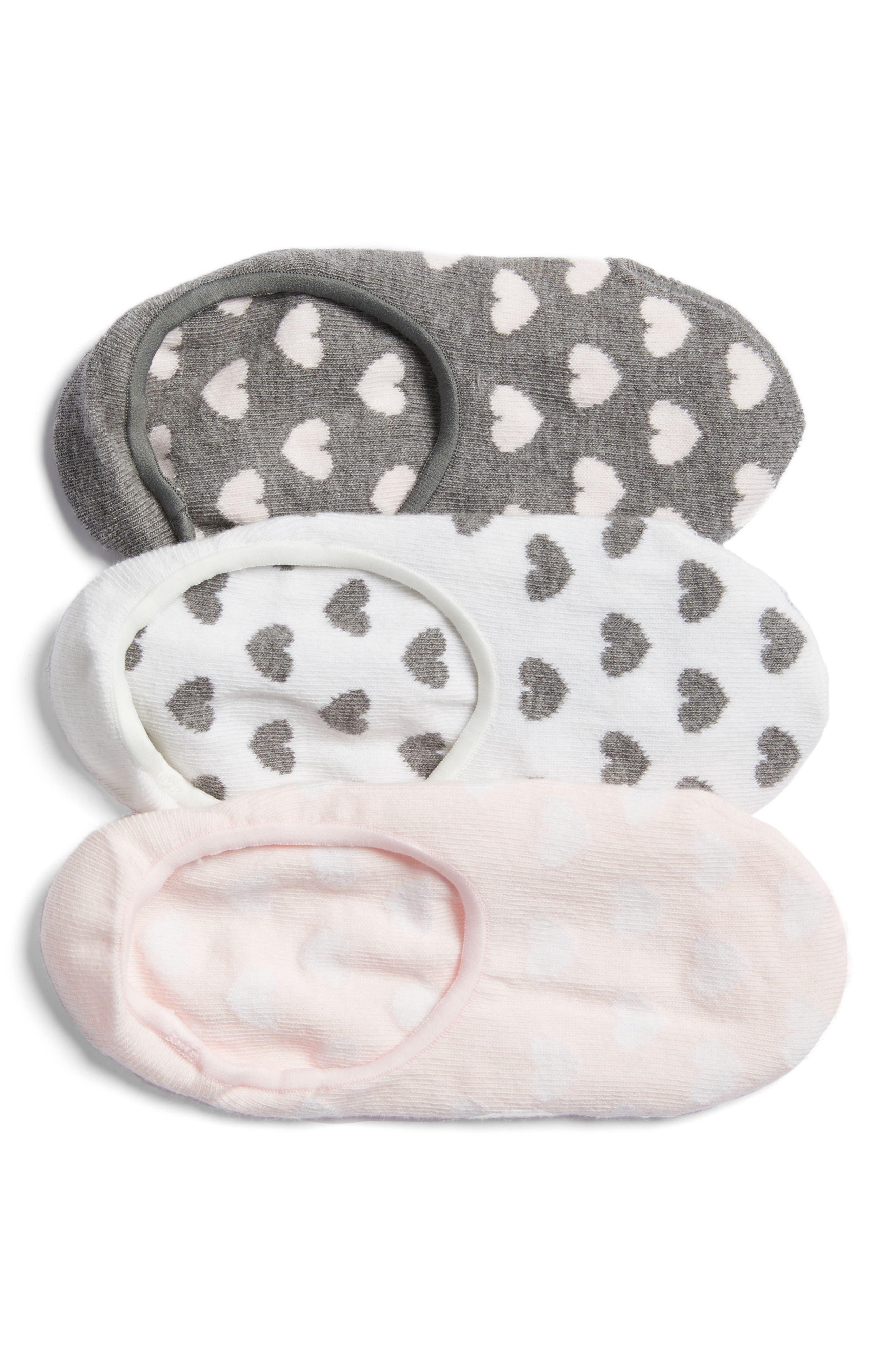 Alternate Image 1 Selected - Nordstrom 3-Pack No-Show Liner Socks
