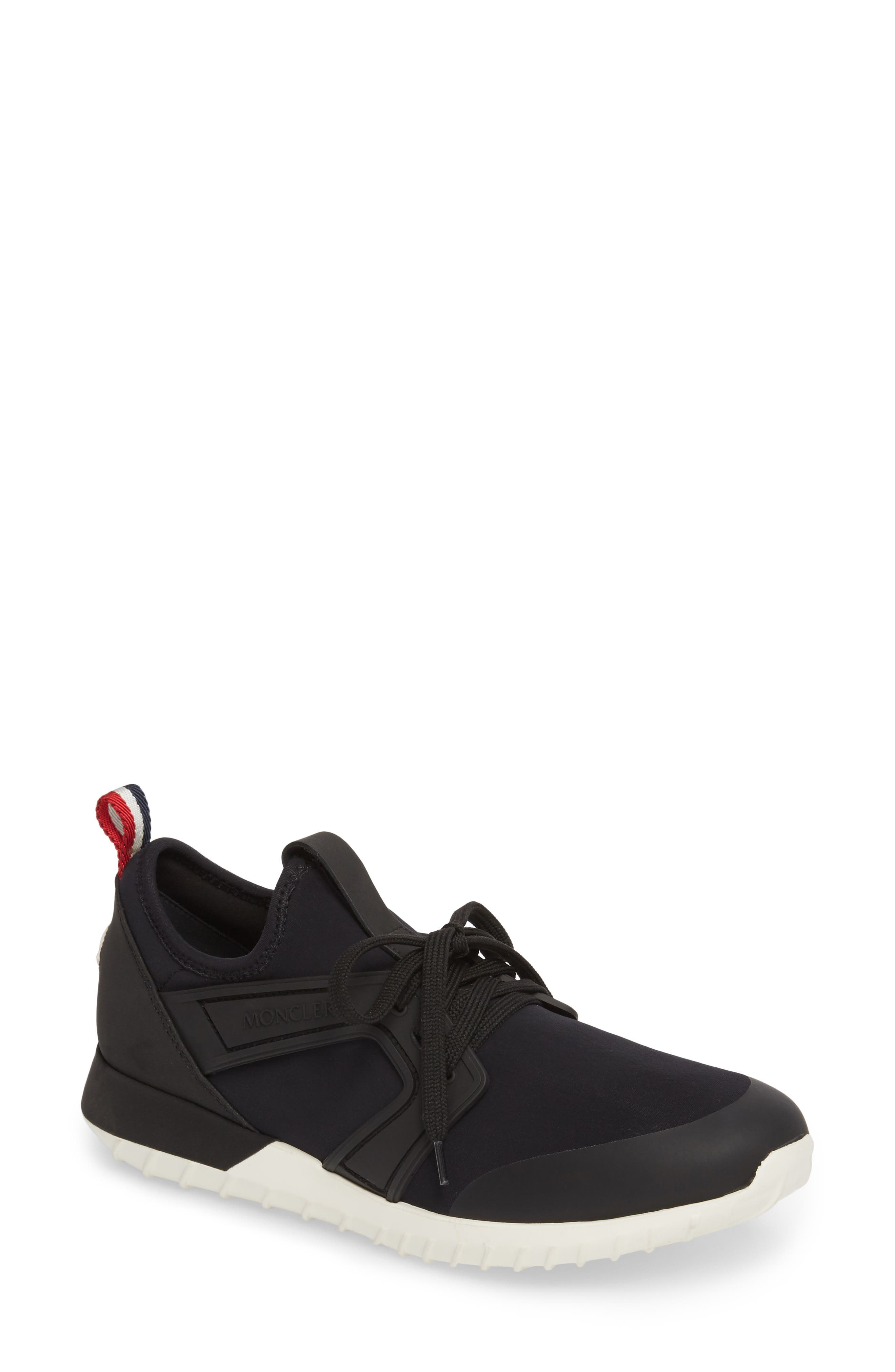 Meline Lace-Up Sneaker,                             Main thumbnail 1, color,                             Black