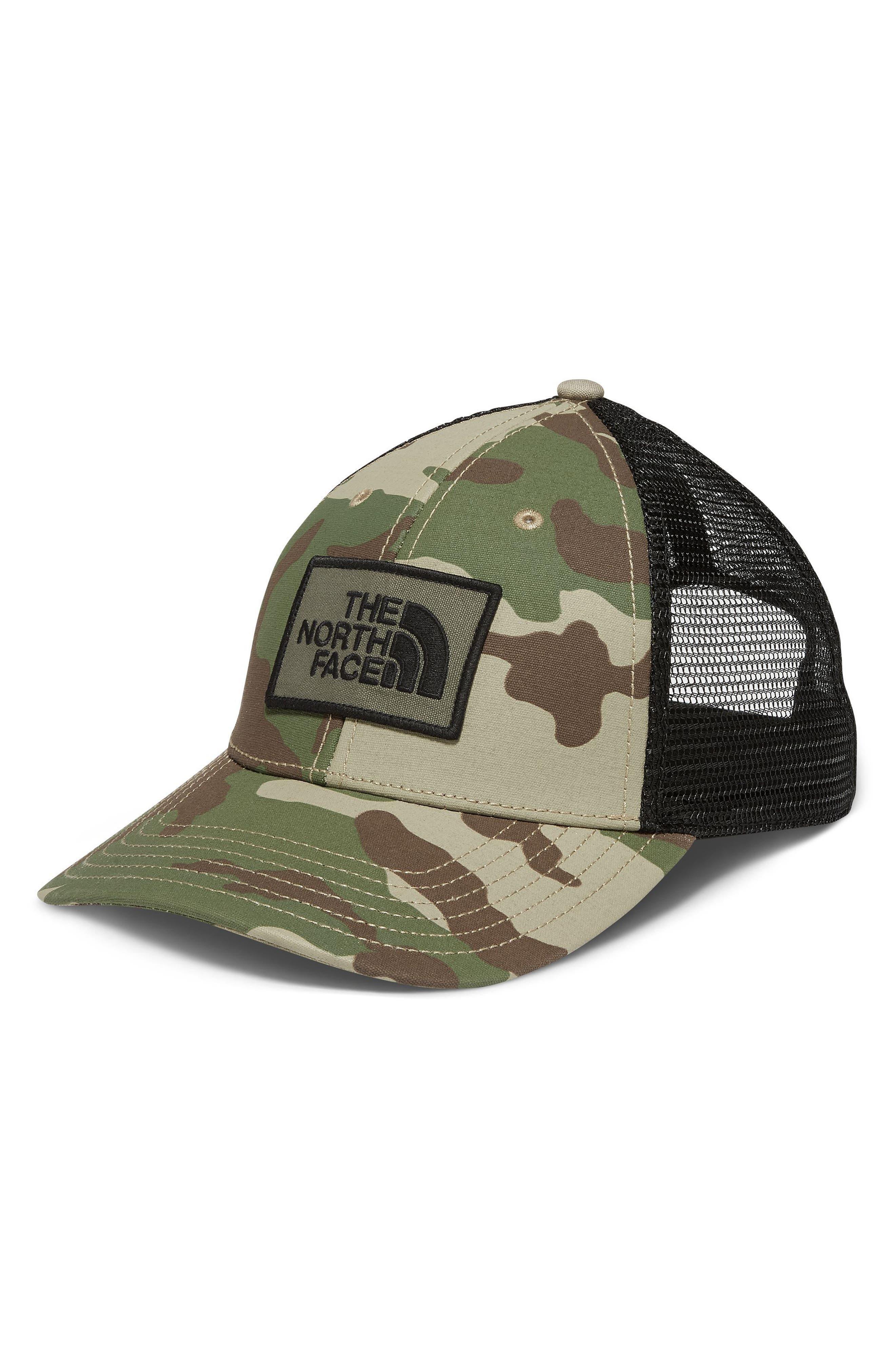 Print Mudder Trucker Hat,                             Main thumbnail 1, color,                             Burnt Olive Green Camo