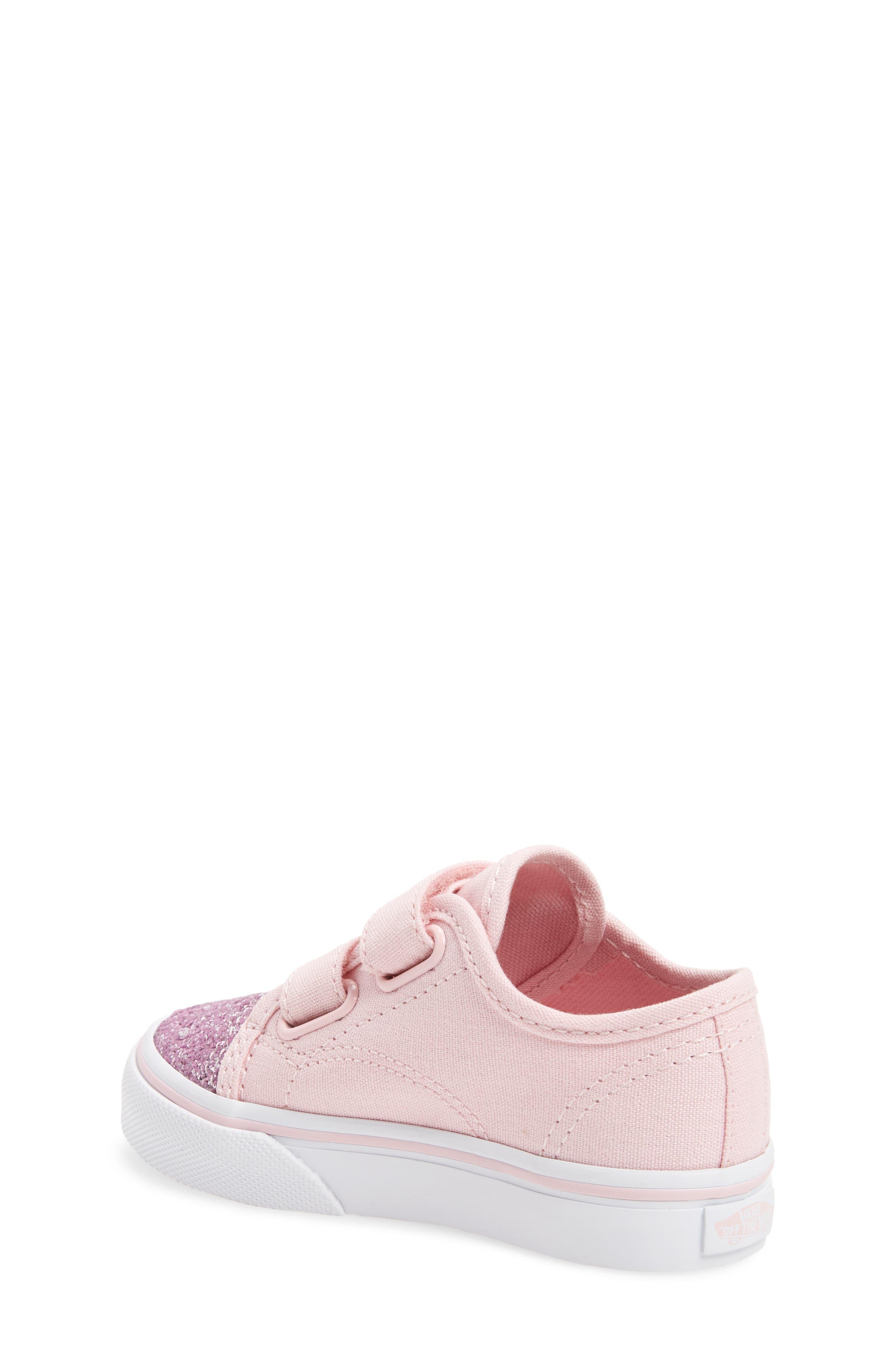 Glitter Toe Style 23 V Sneaker,                             Alternate thumbnail 2, color,                             Glitter Chalk Pink/ True White