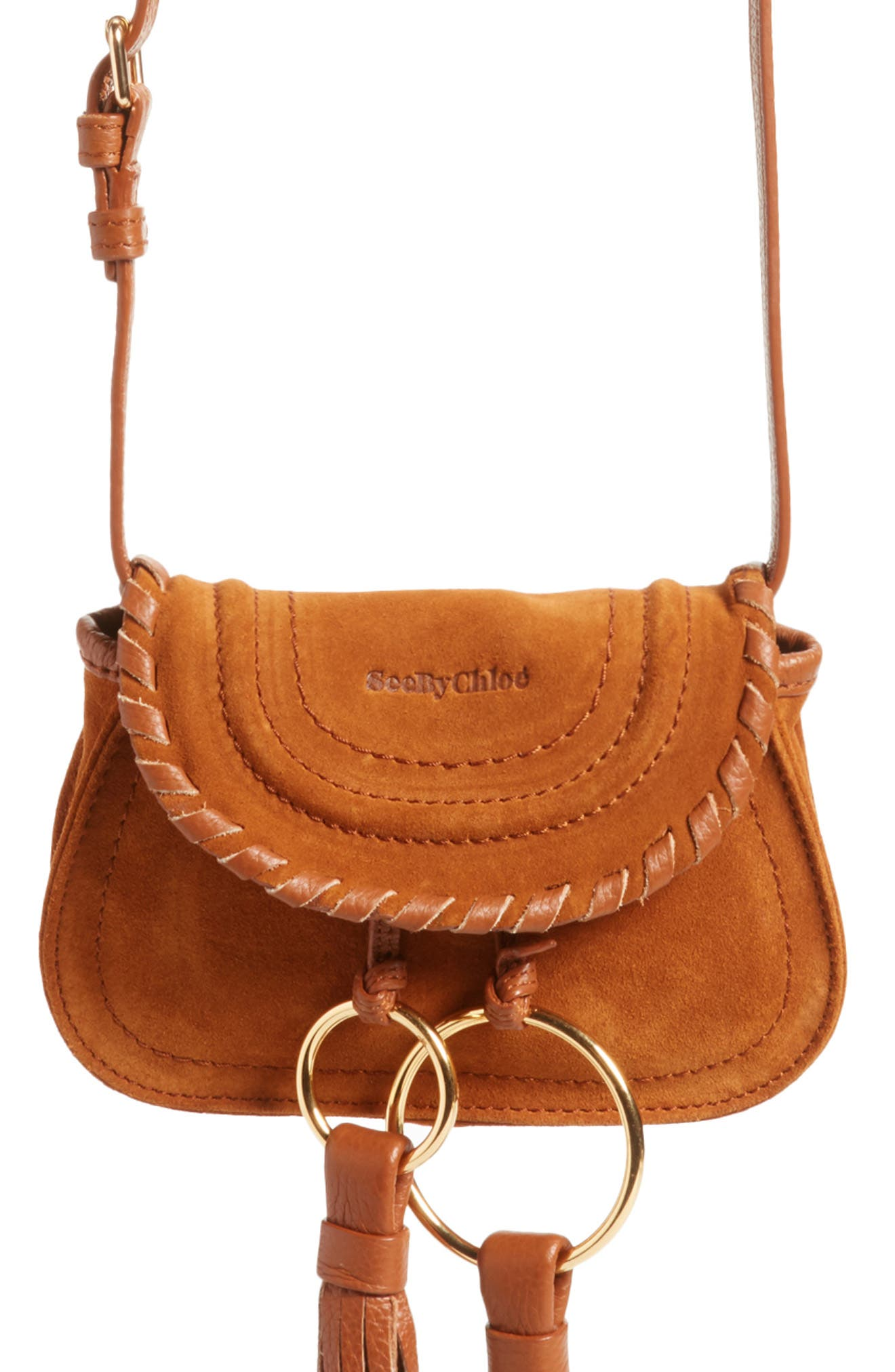Polly Suede Convertible Crossbody Bag/Fanny Pack,                         Main,                         color, Caramelo