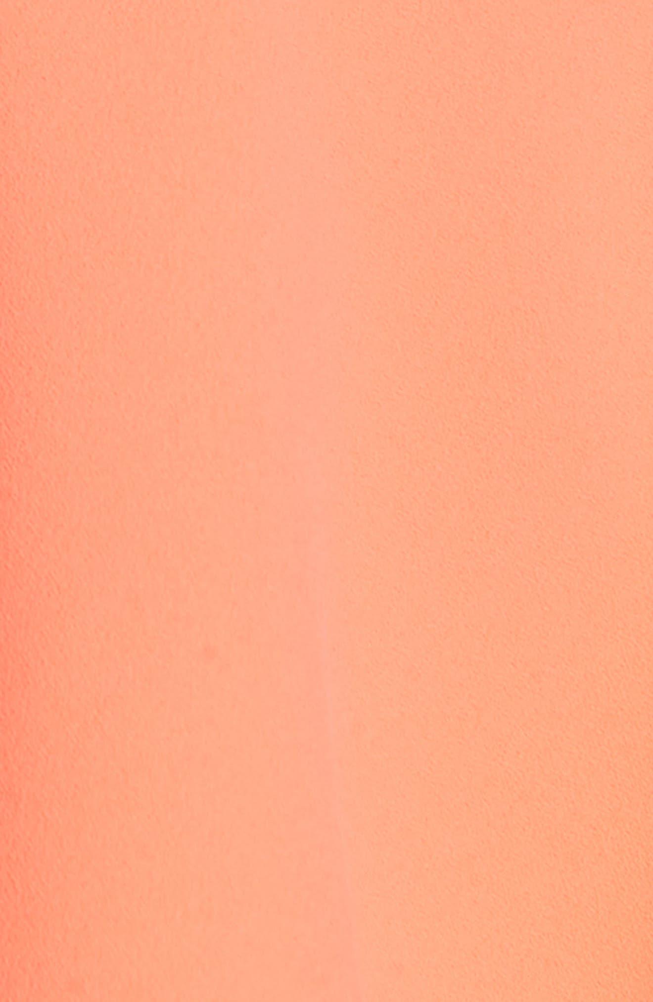 Vita Cold Shoulder Dress,                             Alternate thumbnail 5, color,                             Neon Coral