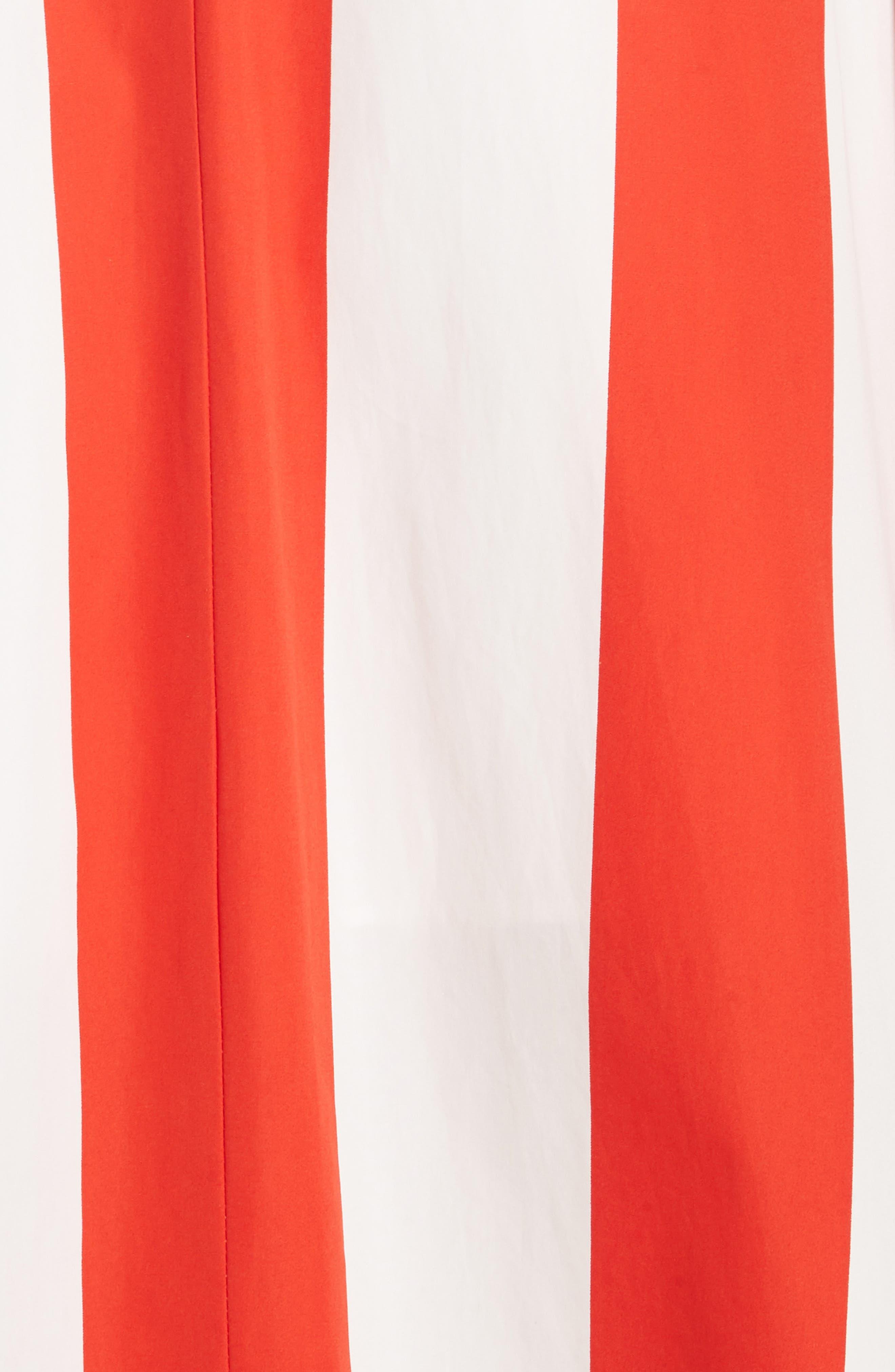 Fernanda Stripe Cotton Maxi Dress,                             Alternate thumbnail 5, color,                             Sixties Stripe- Poppy