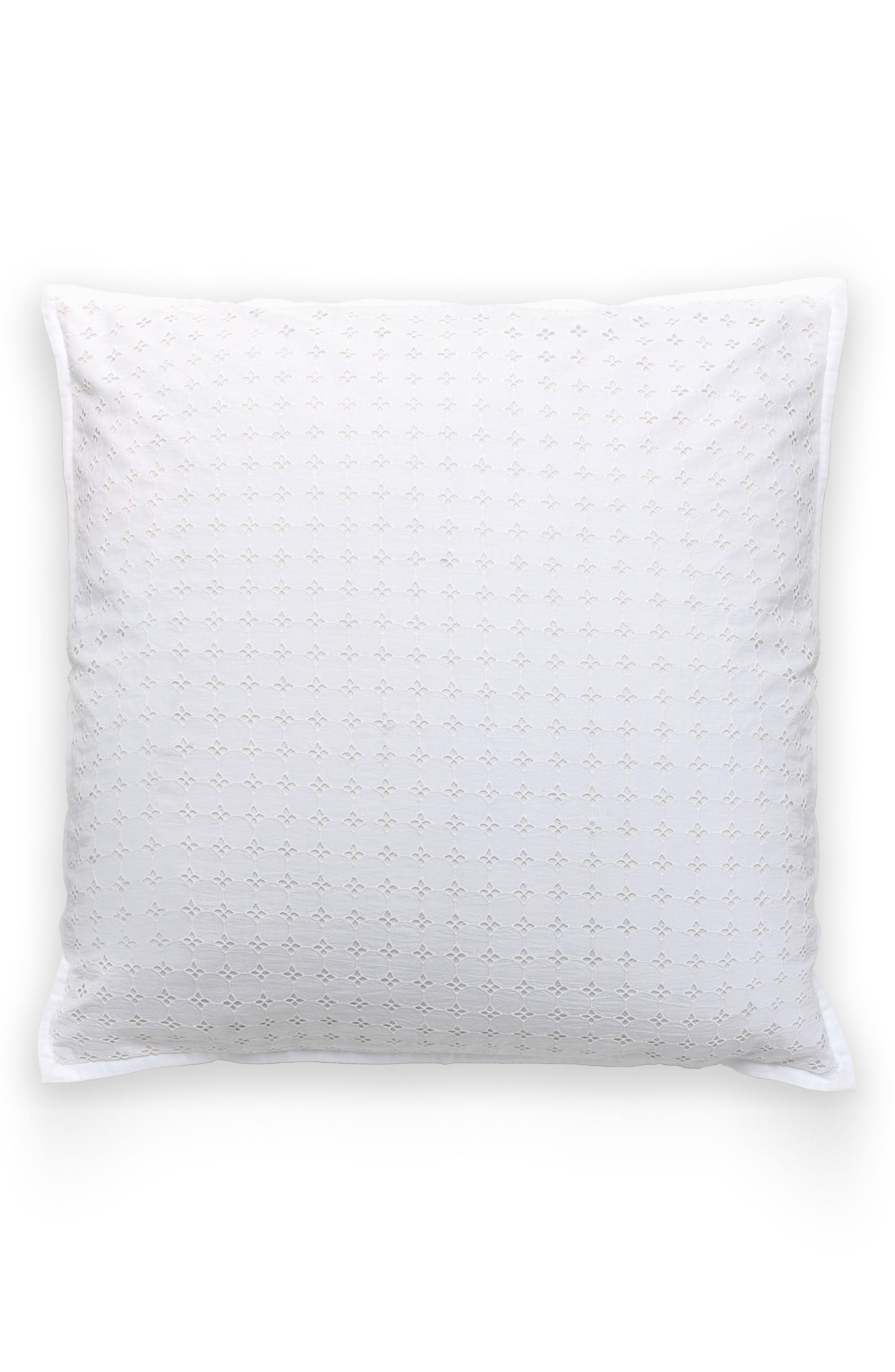 Alternate Image 1 Selected - kate spade new york dot eyelet euro sham