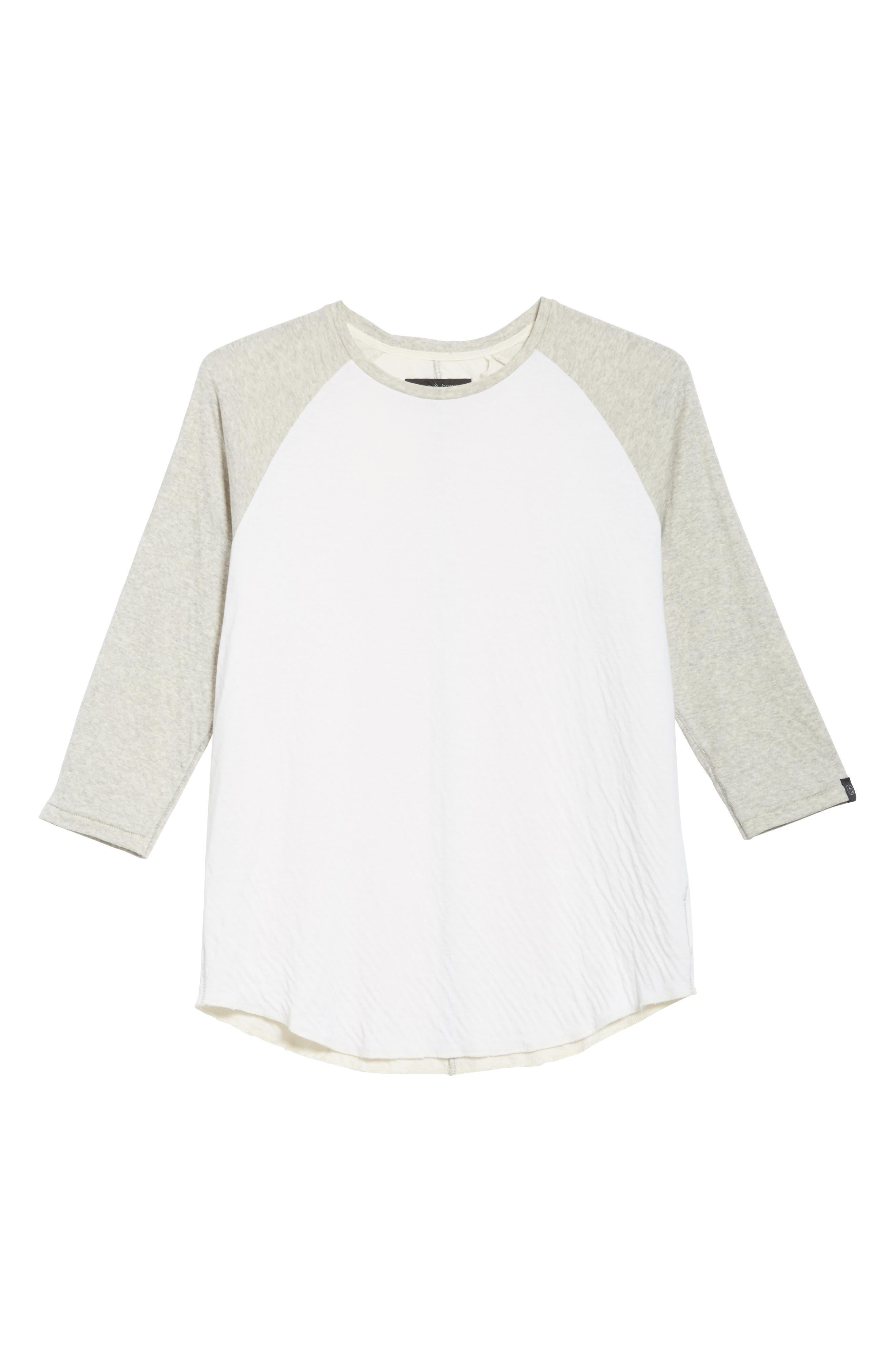 Rigby Baseball T-Shirt,                             Alternate thumbnail 6, color,                             Grey/ White