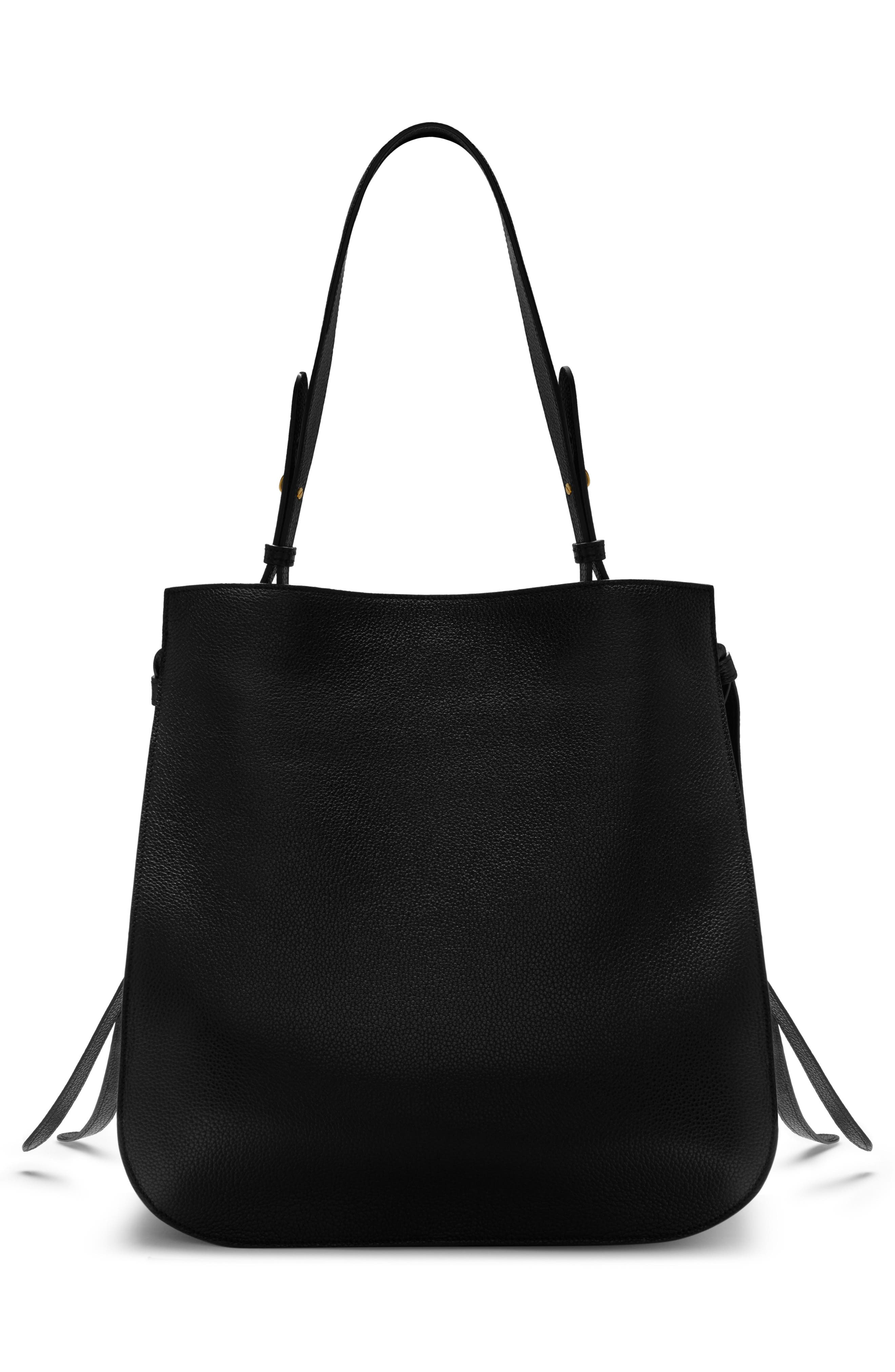 Amberley Leather Hobo,                             Alternate thumbnail 6, color,                             Black