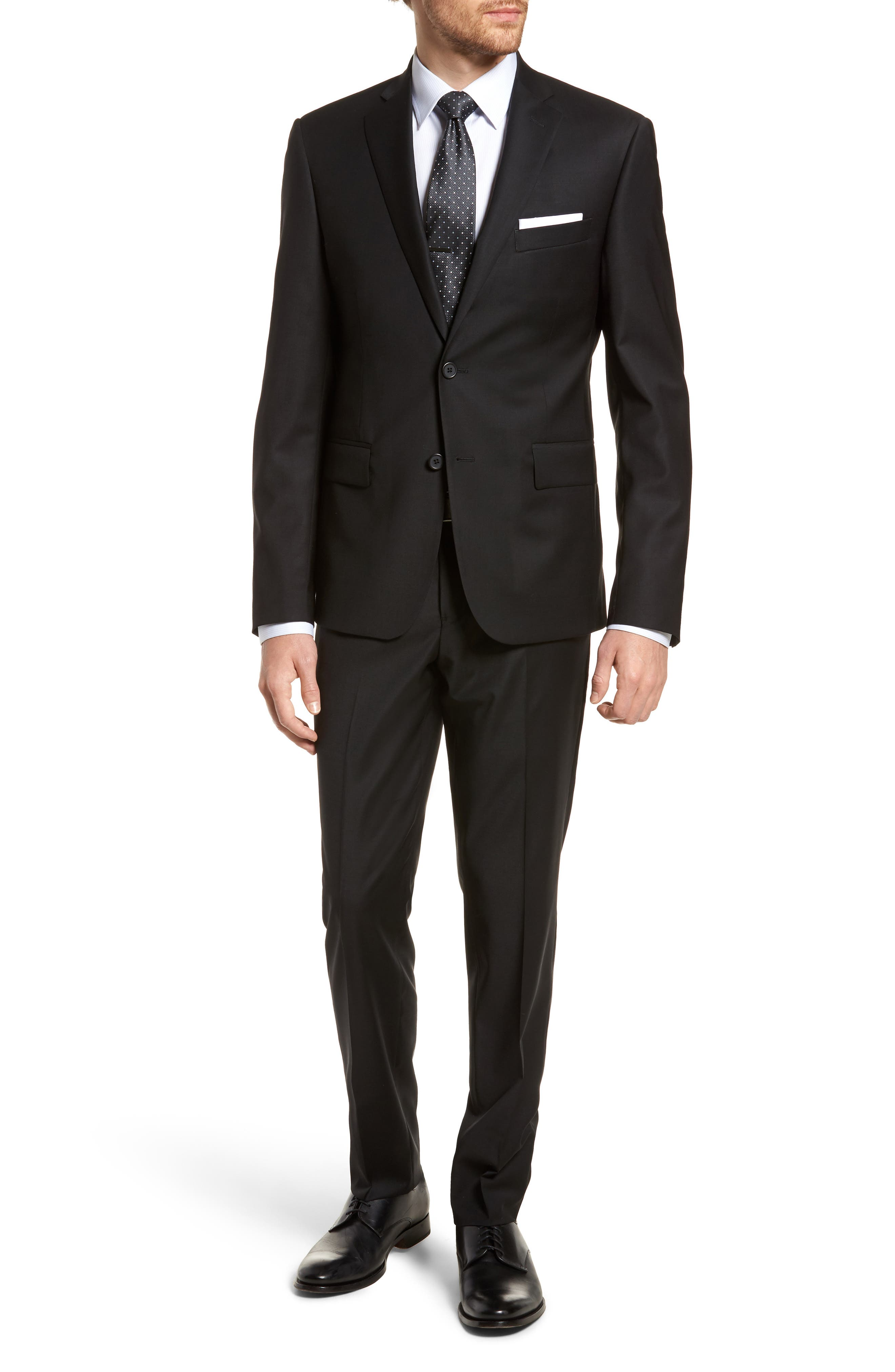 Nordstrom Men's Shop Extra Trim Fit Stretch Solid Wool Suit