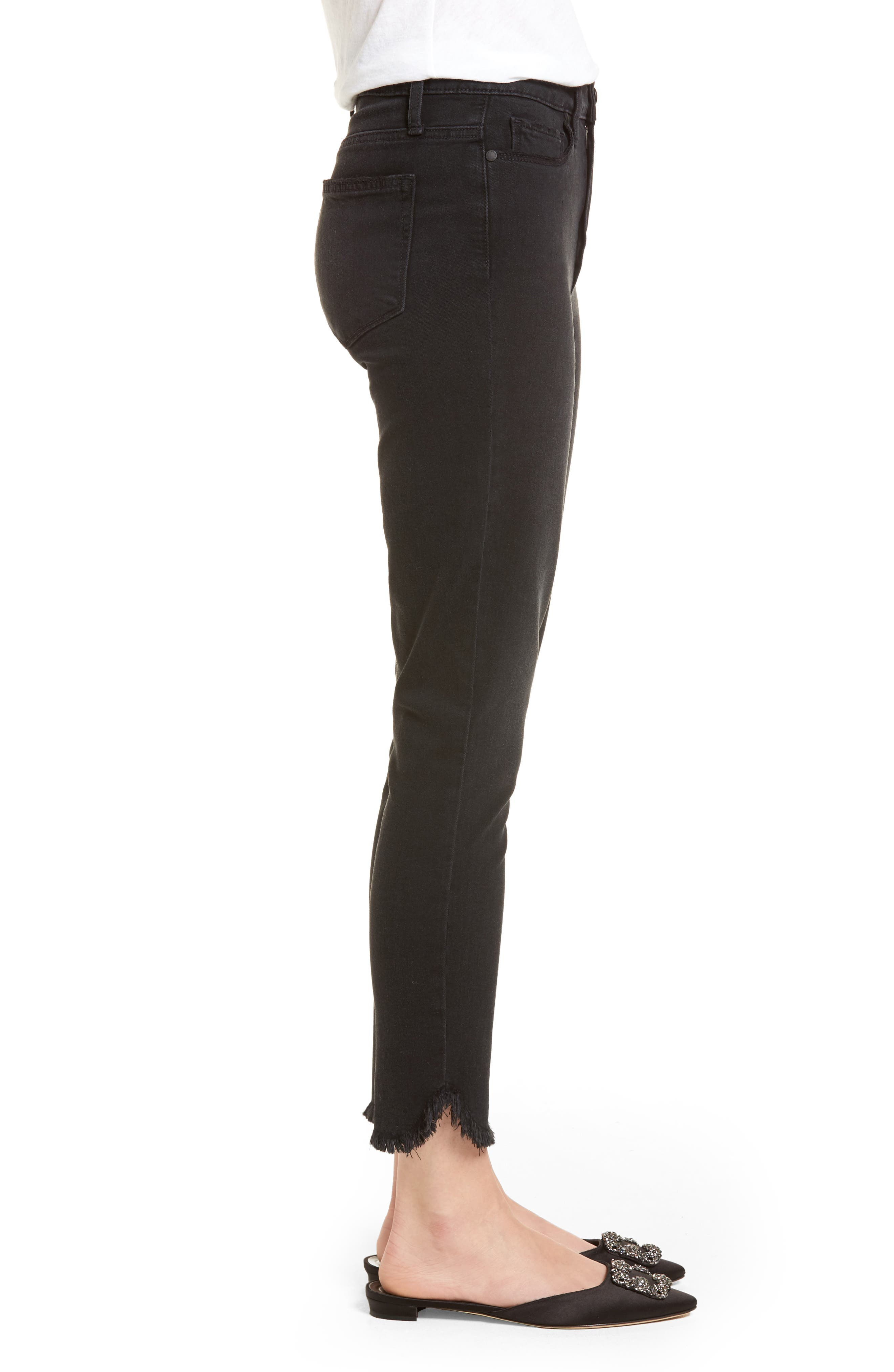 Transcend - Margot High Waist Crop Ultra Skinny Jeans,                             Alternate thumbnail 3, color,                             Draco