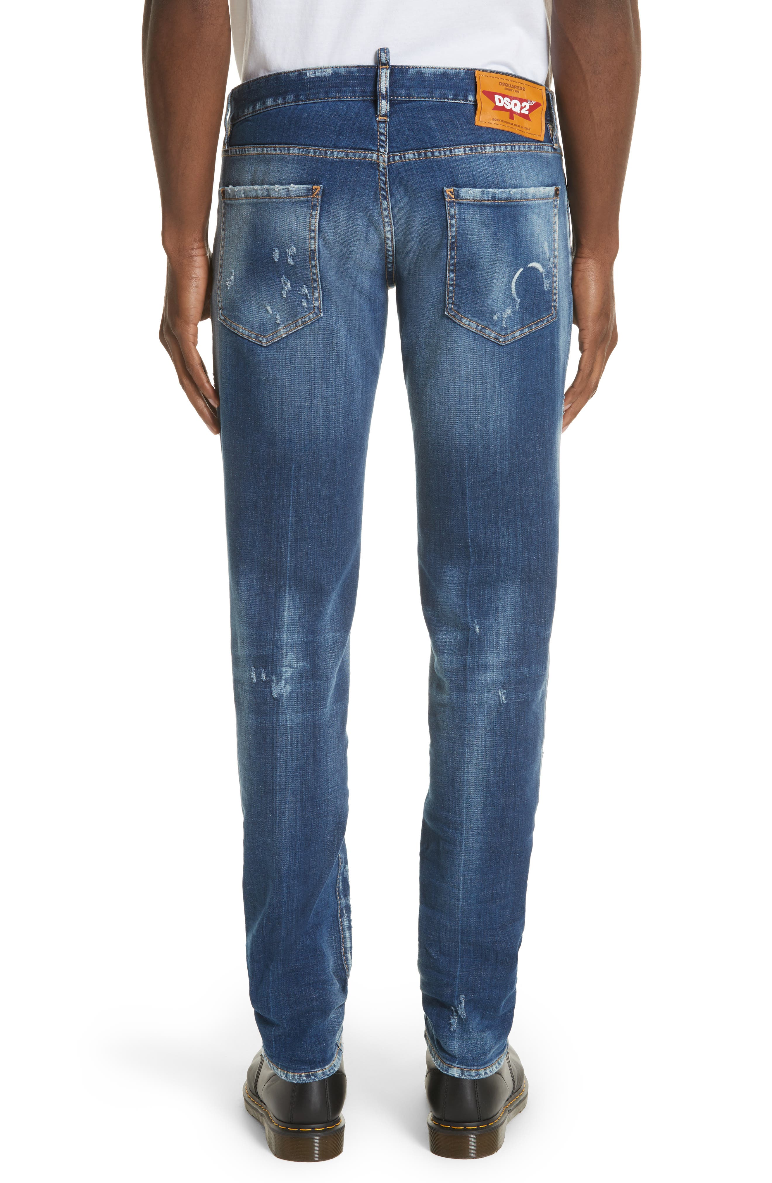 Slim Fit Medium Wash Jeans,                             Alternate thumbnail 2, color,                             Navy/Blue